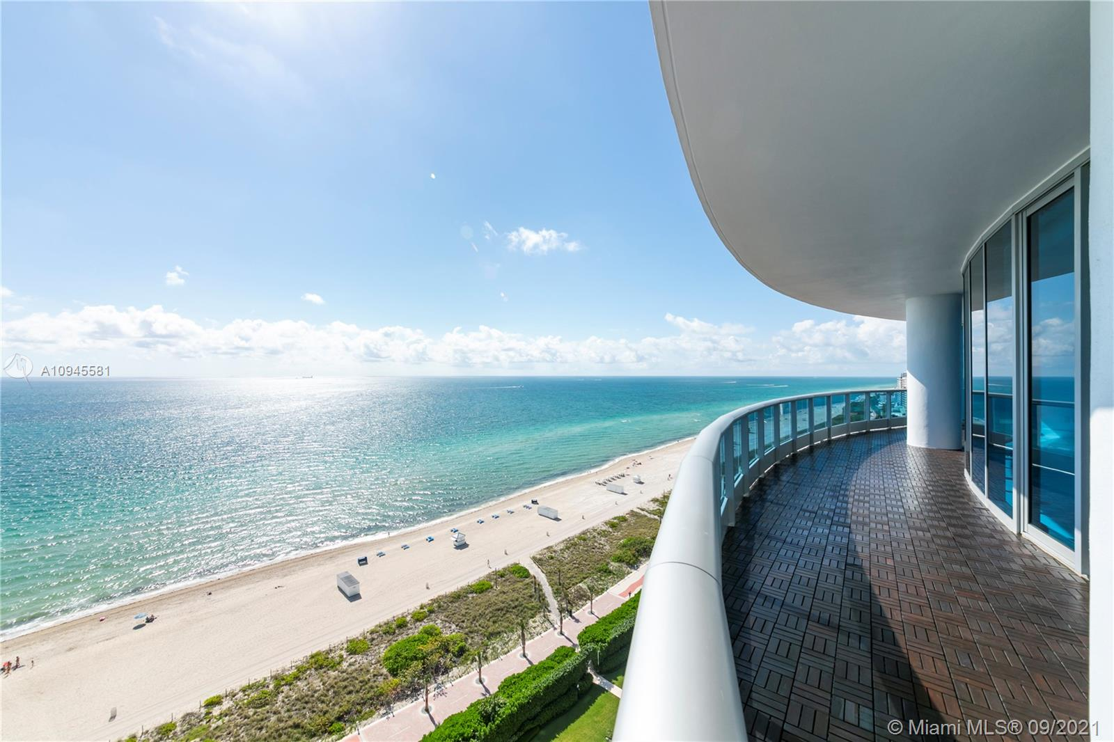 Welcome to one of the most breathtaking panoramic ocean views from this residence located at the distinguished Bath Club. Residence 1807 is conformed of a well allocated 2,959 SF of interior living area plus a large balcony conformed of 483 SF, with 3 bedrooms and 3-1/2 bathrooms. Enjoy floor-to-ceiling windows facing the ocean with contemporary high-end finishes, including automatic blinds, porcelain floors, custom kitchen, and closets plus a spacious laundry room. Furthermore, you will have 2 assigned parking spaces plus complimentary valet for your guests. The Bath Club features 540 feet of beachfront, it also offers a swimming pool with lap lanes and outdoor spa, two clay tennis courts, premium concierge services, 24-hr. security, and the finest in-house dining.