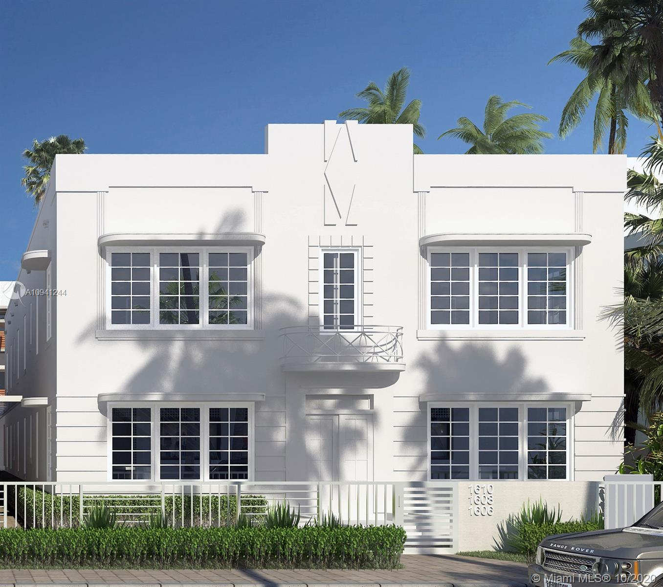 Unique new 2 story contemporary Townhome in completely renovated Art Deco building located in the heart of Miami Beach steps from Lincoln Road and Beaches. State of the art finishes throughout with modern Kitchen, stainless steel appliances, engineered wood floors, porcelain tiles and upscale bathroom fixtures, new A/C with heater system, impact glass windows, washer/dryer, instant energy-efficient water heater, pre-wired for cable and data. Low maintenance fee of $272 without reserve, $308 with reserve. Reserve covers: Roof, Painting, Pavement. Pre-Construction prices for a limited time only.  Delivery Summer 2021. Part of a fabulous 22-unit new construction boutique project.  ***SHOWINGS WILL START 5.1.2021 DUE TO ONGOING CONSTRUCTION***