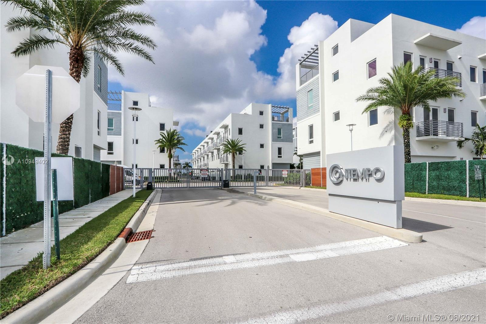"""Modern contemporary gated courtyard community of CONTEMPO. 4 Bedrooms, 3.5 Bathrooms, and Rooftop terrace with artificial grass. excellent location, near to everything restaurants, shops, schools,  City Place, Dolphin Mall. Next to the U.S. Southern Command. South side the Beautiful Doral Central Park.Tenant occupied. """"Great for investors!!!"""""""