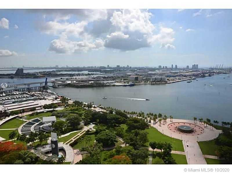3 bedrooms/2 bathrooms with high end appliances and marble floor throughout the unit. Unobstructed bay views