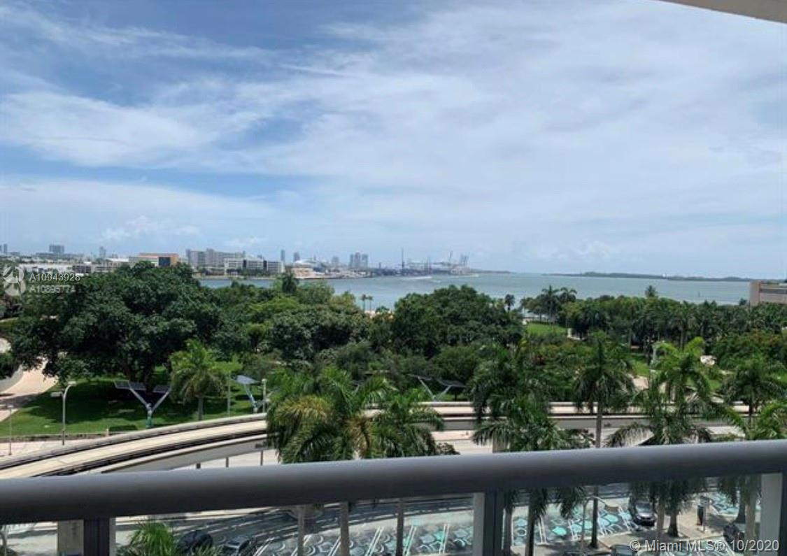 Grand opportunity to purchase one of a kind FURNISHED and cozy studio on the 7th floor. For home or investment property. Park Suites are the only studios in the building offering direct EAST views of the Bay and Bayfront Park. Water front view, Located on Biscayne Blvd. right across the street from 32nd -acre Bayfront Park. The Building includes 24 hour Valet parking, convenient mail and package receiver, pool deck with infinity edge pool, lush tropical landscaping daybeds and cabanas, spa & fitness center overlooking the bay with meditation room and Pilates, 24 hour concierge and security. Easy access to the American Airlines Arena, Bayfront Park, public transport and nearby South Beach. Furnished with king murphy bed and appliances included, Ready to Move-In