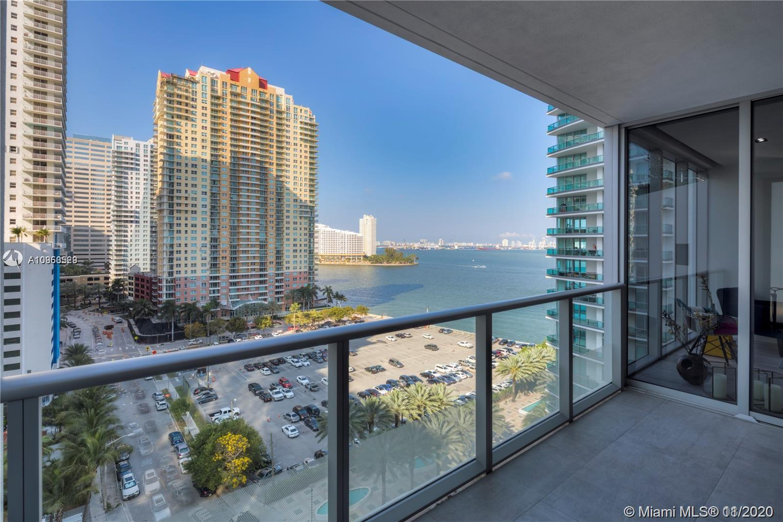 Beautiful unit in Brickellhouse features custom made closets, italian porcelain floors, upgraded bathroom and more.