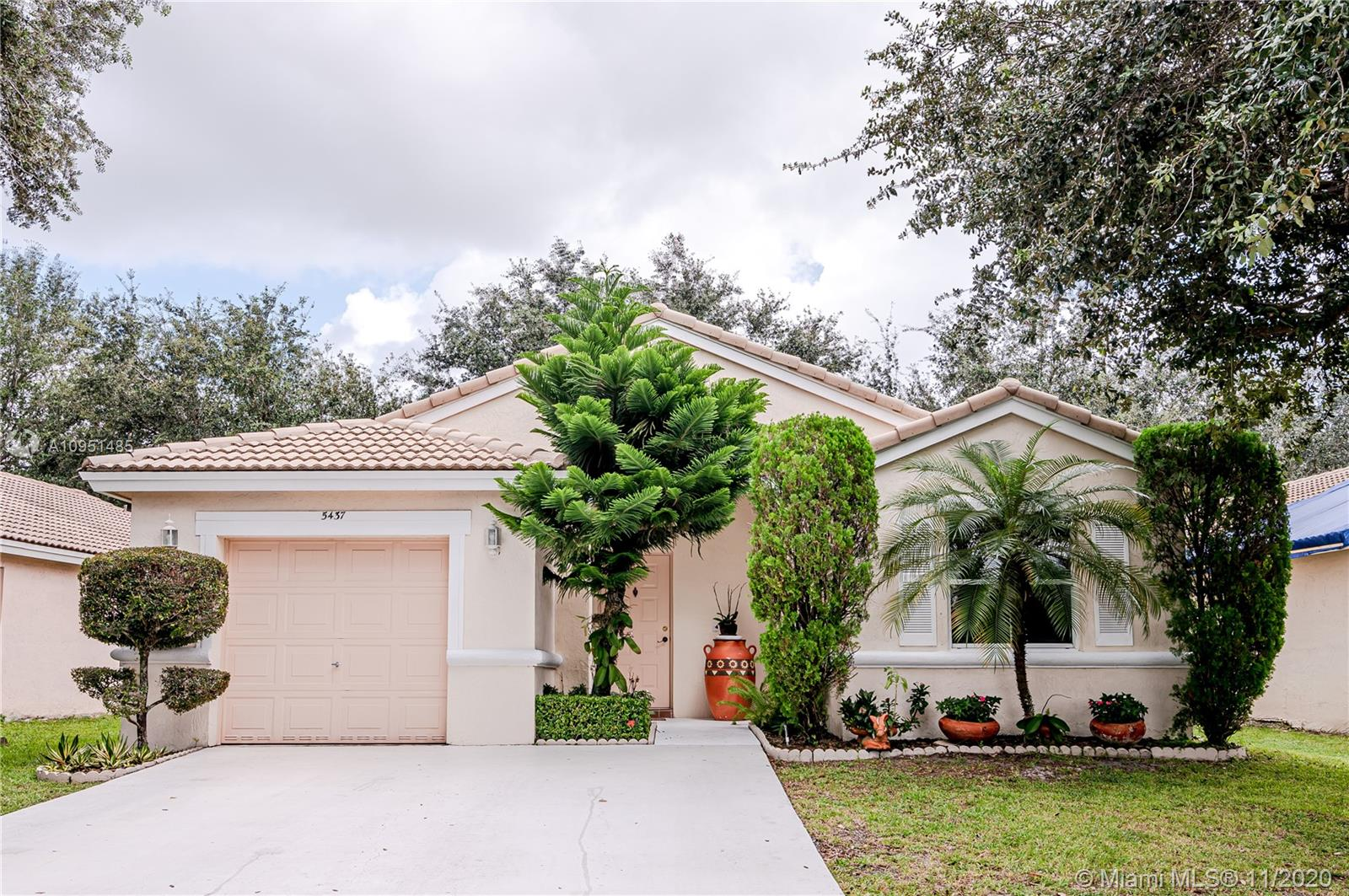 """Amazing community in the heart of Coconut Creek.  Within minutes to dining, shopping, casino, entertainment, A rated school district and so much more.  This home has all you need with a spacious master bedroom with vaulted ceilings and walk in closet as well as master bathroom with shower and bathtub.  The home features a 2nd bedroom, a Den which is used as an office but can be easily converted into a 3rd bedroom as well as a CONVERTED GARAGE which is a perfect place for Movie times  or a """"Man Cave"""".  Backyard is fenced and spacious for barbecues or gardening. Newer AC unit replaced in 2017. Come enjoy this move in ready home."""