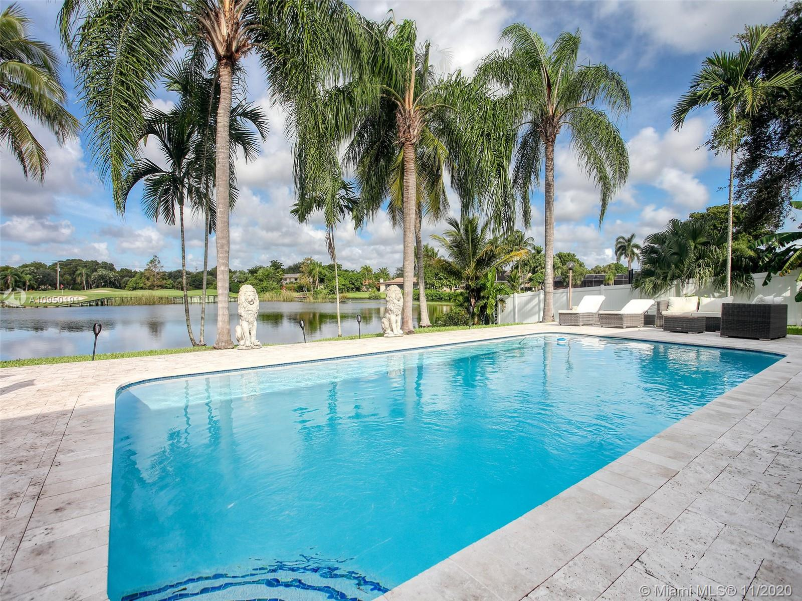 LOCATION LOCATION...MAGNIFICENT ONE STORY 5 BDR 4 BATH *PLUS* GAME ROOM/OFFICE IN DESIRABLE EMERALD HILLS. SOAK UP THE FLORIDIAN SUN BY THE NEWLY RESURFACED POOL AND THE BREATHTAKING VIEW OF THE LAKE & GOLF COURSE. ENTIRE HOUSE WAS TASTEFULLY REMODELED WITH A CHEF'S DREAM KITCHEN FEATURES A HUGE ISLAND WITH CABINETS ON BOTH SIDES, HIGH-END APPLIANCES & FLUSH CEILING HOOD. SPACIOUS LIVING SPACE WITH 2 SETS OF SLIDING DOORS TO ENJOY INDOOR/OUTDOOR ENTERTAINMENT. 2 CAR GARAGE & 12+ CARS CIRCULAR DRWY. ALL NEW SEWER LINES, ALL NEW PLUMBING LINES, ALL NEW ELECTRIC WIRING & PANELS, 2 NEW A/C'S & A/C DUCTS, NEW SPRINKLER SYSTEM, SOME IMPACT WINDOWS, TOO MANY UPDATES TO LIST...BRING IN YOUR MOST SPOILED BUYERS. CLOSE TO HWY,  AVENTURA MALL & SAWGRASS.  *WALKING DISTANCE TO MANY HOUSE OF WORSHIP*