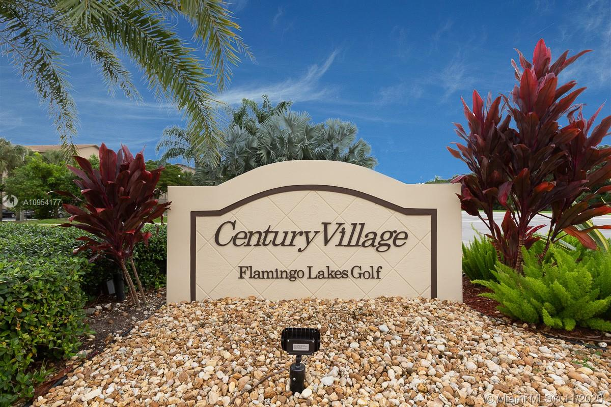 """***SPOTLESS , BRIGHT AND SPACIOUS UNIT** FRESHLY PAINTED WITH MODERN NEUTRAL COLORS. NEW CARPET. TILE FLOORING IN 1.5 BTHS AND KIT.  MODERNIZED KITCHEN WITH NEW DISHWASHER . 4 YEAR OLD CAC WITH 10 YEAR WARRANTY.WASHER AND DRYER IN UNIT.  LOCATED IN WELL MAINTAINED 55+ HOUSING FOR OLDER PEOPLE APPROVED. GATED """"CENTURY VILLAGE"""" OFFERS FANTASTIC AMMENITIES TO ENJOY RETIREMENT LIVING. INCLUDING MILLION $$$ CLUB HOUSE, THEATRE, RESTAURANT, POOLS, FITNESS CENTERS, GOLF, TENNIS CTS, TRANSPORTATION TO SHOPS AND DINNING,24 HR. PATROLLED SECURITY AND MORE...                               RENTALS ALLOWED AND INVESTORS ARE WELCOMED.  TOTAL MONTHLY FEE OF $465 COVERS MAINTENANCE AND RECREATION LEASE                                                         EASY TO SHOW !!!!"""
