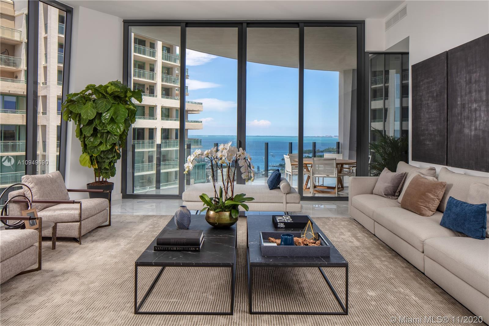 If possible please provide 48h notice for showings. New window treatments installed! Greeted by remarkable panoramic views of Biscayne Bay and rare 12-ft ceilings, unit 16D in Tower Two of the exclusive Park Grove Residences, is where your home search ends. This pristine unit, one of only 4 per floor, will check off everything on your list. With a layout of nearly 3,000 sq ft, this flawless 3 bedroom, 4 bathroom home, boasts Paonazzo marble counters, Italkraft cabinetry, Wolf appliances and the highest level of finishes throughout. Experience resort-style living with 80,000 sq ft of lavish amenities and own a piece of architecture history, created by renowned architect Rem Koolhaas and acclaimed landscape designer, Enzo Enea. See broker remarks for showing instructions.