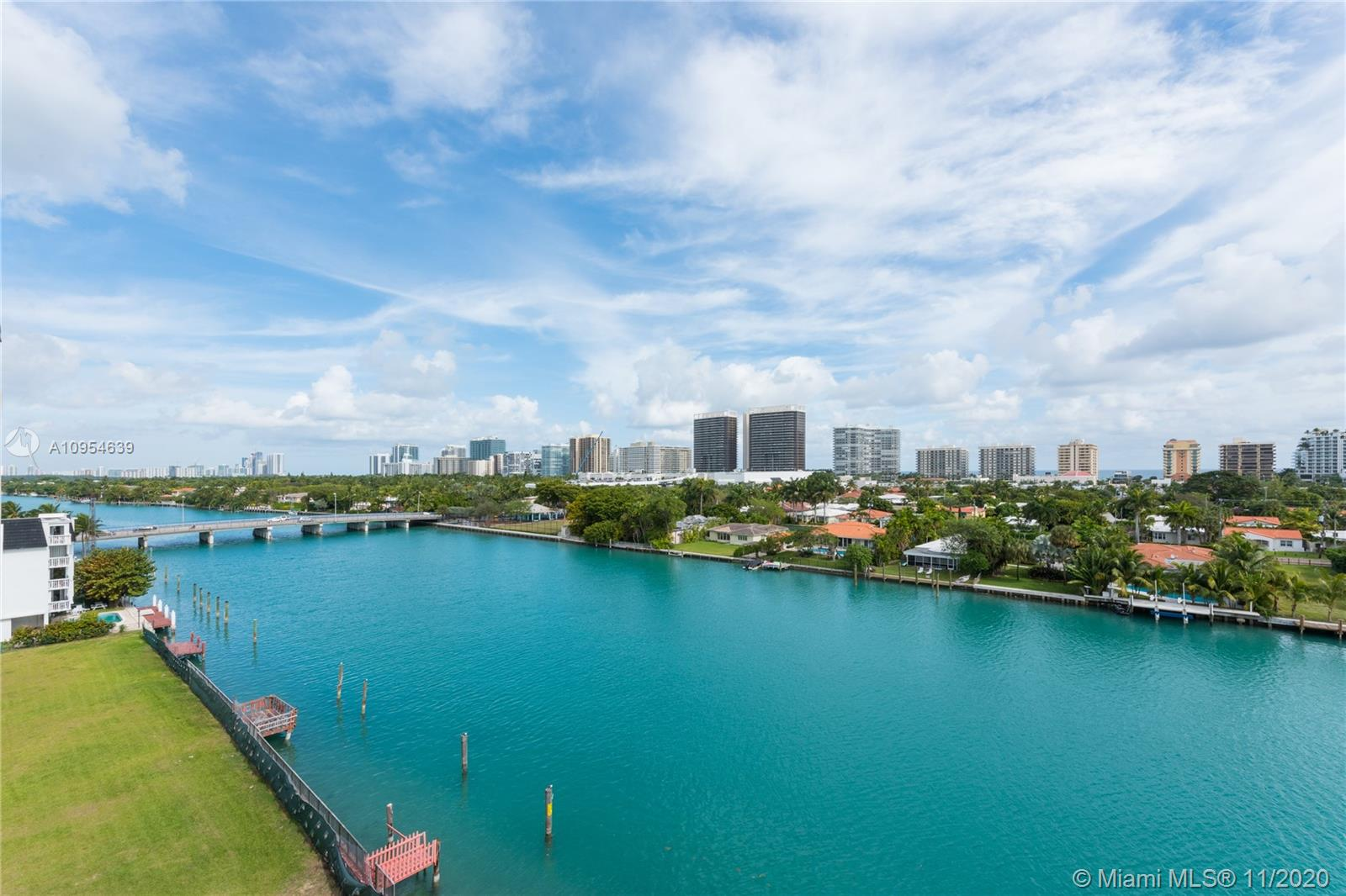 "AMAZING 3BR/3Ba, 2,470 SF, MiMo waterfront Penthouse w protected direct Ocean, Indian Creek, wide-angle Views throughout. Curated, sun-drenched home feat. dual master suites w walk-in closets, 3rd BR/Office, w spacious island-inspired terrace. Beautiful Italian Carrera/Wood Porcelanosa floors throughout. Steam shower w water closet in S master, updated kitchen, antq marble decorative fire-plc, Adelman chandeliers, duo zone A/C, Shutters. Walk to ""A"" K-8 public school, Beach, Parks, Bal Harbour Shops, Fine Dining. Low HOA."