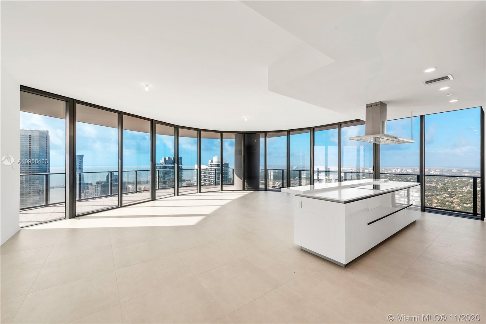 Worldclass views from this 3 Bed/3.5 Bath Lower Penthouse at Brickell Flatiron with higher ceilings. Best line in building.  Italian Porcelain floors, hidden hinge doors, Snaidero kitchens, and a great floorplan create an incredible home in the sky. Come see the rooftop pool, spa and fitness center with Pilates/yoga and aerobics studio, private steam and sauna facilities. Some of the other amenities include a children's play area, game room, movie theatre and recreation rooms. All in the heart of Brickell.