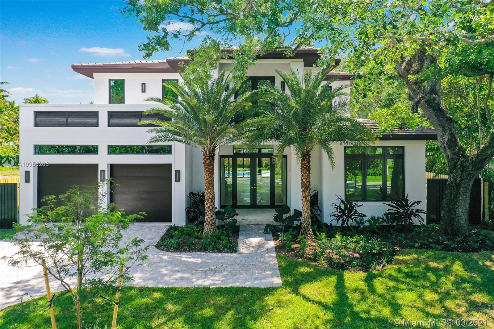 """~ FANTASTIC NEW CONSTRUCTION """"MIAMI TRANSITIONAL"""" HOME TO BE COMPLETED FEBRUARY 2021 ~ 5 BEDROOMS / 6 BATHROOMS / 2 CAR GARAGE / POOL / 10,080 SF LOT ~ ENJOY THE OPEN CONCEPT & PROUDLY ENTERTAIN SEAMLESSLY INDOOR TO OUTDOOR ~ CUSTOM ITALKRAFT KITCHEN WITH SUBZERO & WOLF APPLIANCES INCLUDING GAS COOKTOP ~ 24 X 48 PORCELAIN DOWNSTAIRS / ASPEN OAK WOOD FLOORS UPSTAIRS ~ DOWNSTAIRS HIGHLIGHTS FULL GUEST SUITE PLUS FULL CABANA BATH ~ UPSTAIRS BOASTS THE MASTER SUITE PLUS 3 CHILDREN'S BEDROOMS WITH EN SUITE BATHROOMS ~ ITALKRAFT CABINETRY THROUGHOUT THE HOME ~ GENEROUS OUTDOOR TERRACE OVERLOOKING THE POOL & BACKYARD ~ HOME EQUIPPED WITH SOLAR PANELS & CGI IMPACT GLASS ~ EASY WALK TO SOUTH MIAMI & SOUTH GABLES RESTAURANTS & SHOPS ~ CLOSE PROXIMITY TO EVERYTHING THAT MATTERS!!! ~"""