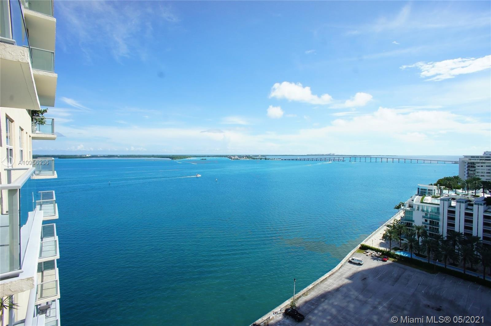 Amazing Water Views to the Ocean, Biscayne Bay, and the city. Perfect home and a perfect investment. Airbnb approved 12 Leases per year allowed.  Dark wood floors. Brand new Stainless Steel Appliances, upgraded bathroom, brand new closet cabinetry. Amenities: Large Pool by the Bay, tennis court, covered parking, fitness center, hot tub, sauna, restaurant on-site, convenience store, Racquetball courts, waterway, and much more. Extra storage is available. Easy access to I-95. downtown, Key Biscayne, Airport, and Miami Beach.