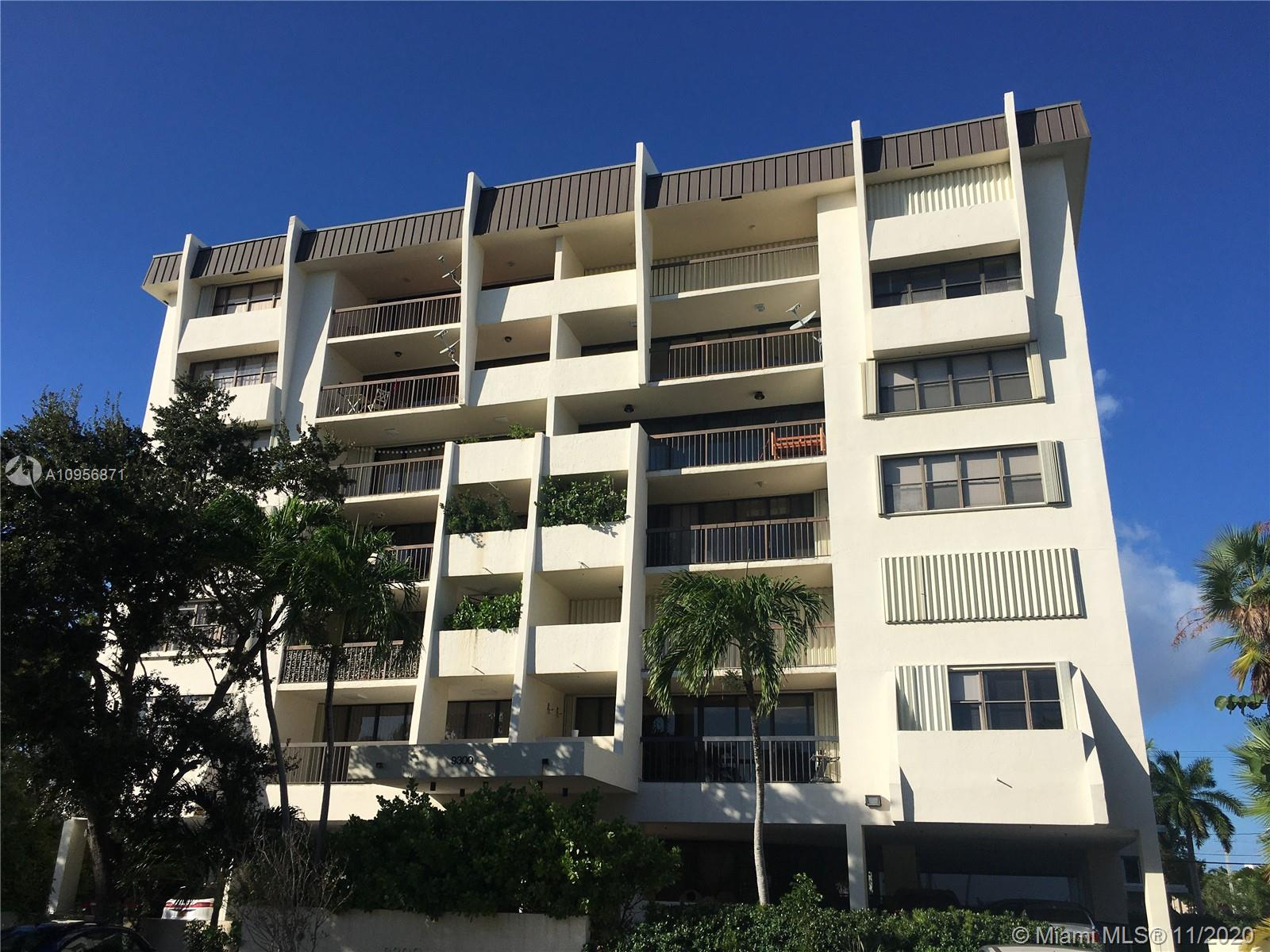 Spacious and bright 2 Bed / 2.5 Bath 1,600 Sq Ft corner unit in prestigious Bay Harbor Island. Featuring master bedroom with walk in closet, Large Living room & Dining room, Kitchen with eat in nook, wood tile throughout, hurricane accordion shutters and oversize balcony facing east for wonderful sunrise views.  Washer and dryer in unit. Comes with a large secure storage room & two assigned parking spaces. Well maintained Building with many amenities, including Secured lobby, pool & BBQ area.  Four units per floor.  Low maintenance.  Walking distance to Bal Harbour Shops, school, restaurants, House of Worship & the beach.  Unit Priced to sell.
