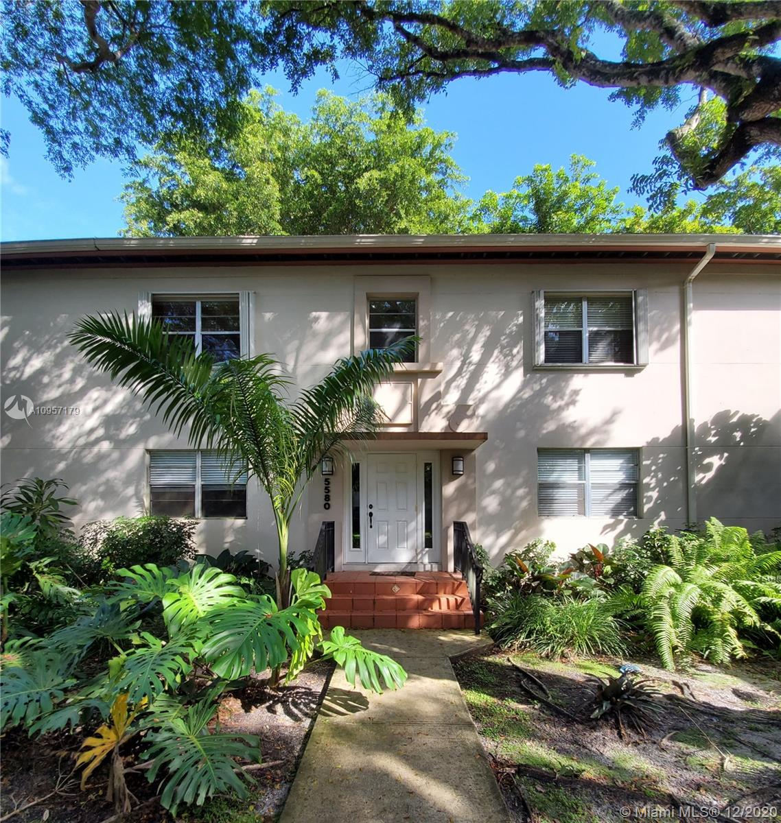 Cozy 2 bed/1 bath located in South Miami boarding with Coral Gables.  This property has a brand new a/c, wood floors throughout (light maple color), an updated kitchen, spacious rooms, accordion shutters, the community pool is steps from the unit as is the laundry facility.  Perfectly located for those working at UM or students as well as those who want to be centrally located.  Walking distance to South Miami restaurants, Whole Foods, and plenty of shopping.