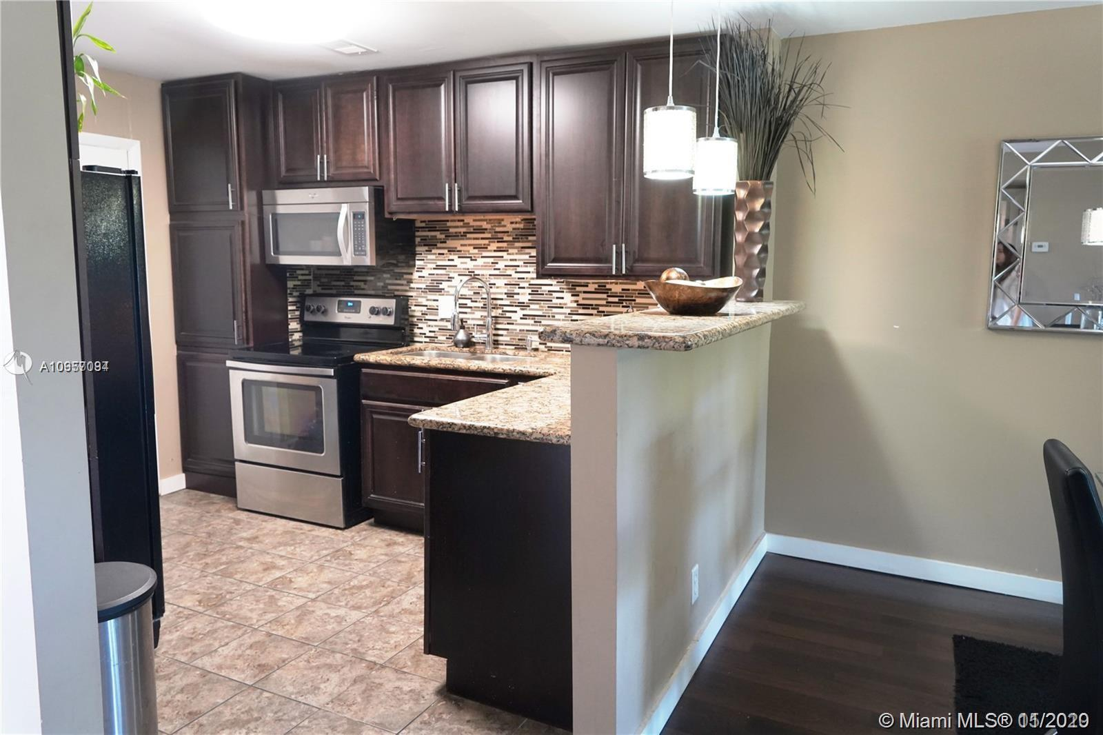 Nice and spacious 2 Bedrooms and 2 Bathrooms condo. Laminate flooring. Stainless steel appliances. Screened patio overlooking the garden. A laundry facility is available on each floor. Gated community guarded 24/7. Credit must be above 675 and Income must be above $37,500 per association.