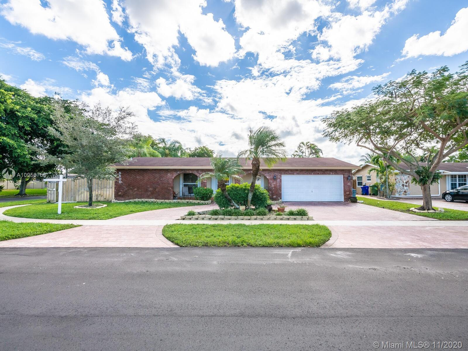 OPEN HOUSE SUN 11/29 - 12-3PM BRING ALL OFFERS !  Beautiful 4 bed, 2.5 bath, 2 car garage pool home on a corner lot with room for an RV or boat to park!  No HOA!  This home boasts 2195 sf under air biggest in area due to addition.  Stainless steel appliances, granite countertops and wood cabinets in kitchen.  Spacious Master bedroom and nice size other bedrooms.  Entire home has tile recently installed in 2018. Hurricane Impact Windows & Doors plus accordion shutters.  New fence installed 2019.  Newer pavers throughout side and back yard installed 2018.  Storage shed included for extra storage space. Wheelchair accessible home.  State of the art security system and more...   HURRY! WON'T LAST!!