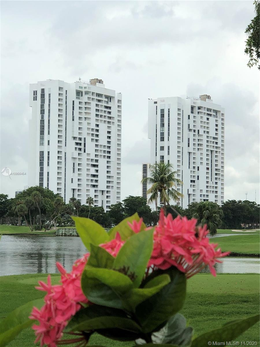 THIS 2BR/2BA UNIT IS IN THE HEART OF AVENTURA OVERLOOKING BEAUTIFUL GREENERY OF TURNBERRY ISLE GOLF COURSE AND INTRACOASTAL WATERWAY. WAKE UP AND ENJOY A COFFEE ON THE BALCONY AND ENJOY THE VIEWS OF MIAMI BEACH AND OPEN OCEAN BEYOND. LOCATED IN A CENTRAL LOCATION IN THE MIDDLE OF COUNTRY CLUB DRIVE'S EXERCISE TRAIL. EXPERIENCE THE WALKING, JOGGING OR BIKE TRAIL WITH SCENIC VIEWS, WALKING DISTANCE TO AVENTURA MALL AND LOTS OF NEARBY DINING. RIDE YOUR BIKE TO THE BEACH FOR THE DAY. OWNER/AGENT