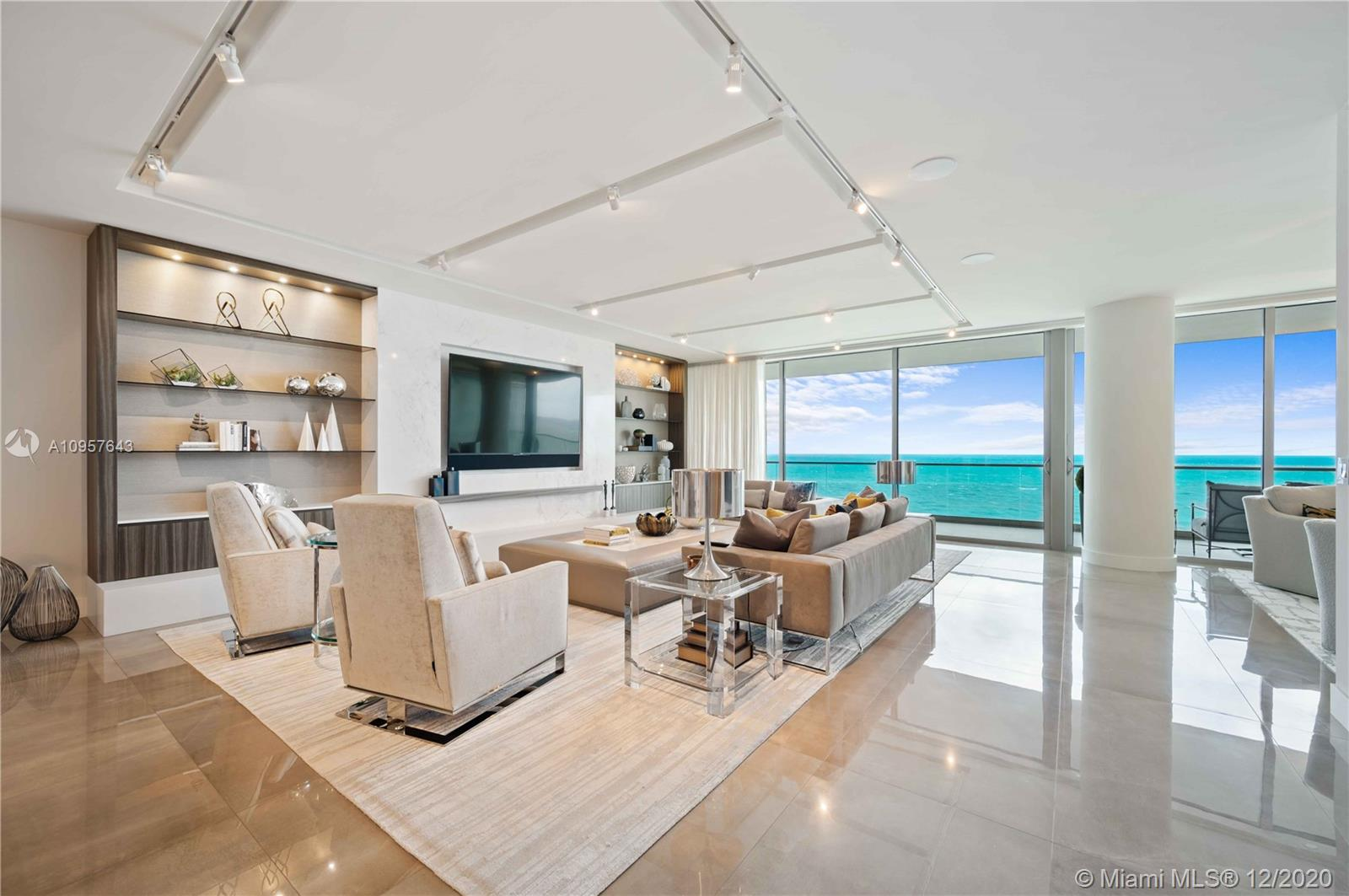 Welcome to the epitome of privacy and luxury at its finest! Your new home awaits at the world-renown Oceana Bal Harbour. This two-bedroom plus a den, set up for occasional guests, and three-bath condominium is a spacious, turn-key, Steven G. Interiors designed extravagance. The second bedroom is intentionally open to maximize the direct Atlantic Ocean views. The kitchen features Dada cabinetry, a Gaggenau two-zone epicurean wine cellar and appliances, and gorgeous imported stone countertops. Bathrooms are finished with chic cabinets by Piero Lissoni and other exceptional touches. Ten-foot ceilings and a generously sized balcony complete this breathtaking residence, a true definition of the prized oceanfront Bal Harbour lifestyle. First-class amenities include service on the beach.
