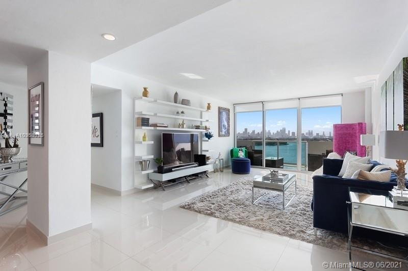 The exceptional and rarely available '26' line at the Mirador North is the largest 2 bedroom floor plan with unparalleled sweeping views of downtown Miami and Biscayne Bay from every room in the residence. Unit 1026 has been meticulously renovated throughout featuring an open, modern kitchen with European appliances, white glass tile flooring and lavish spa baths. Condo offers full-service amenities with 24 hour front desk, security; heated pool, jacuzzi, valet and state-of-the-art private fitness center. High speed internet and cable included in the HOA.