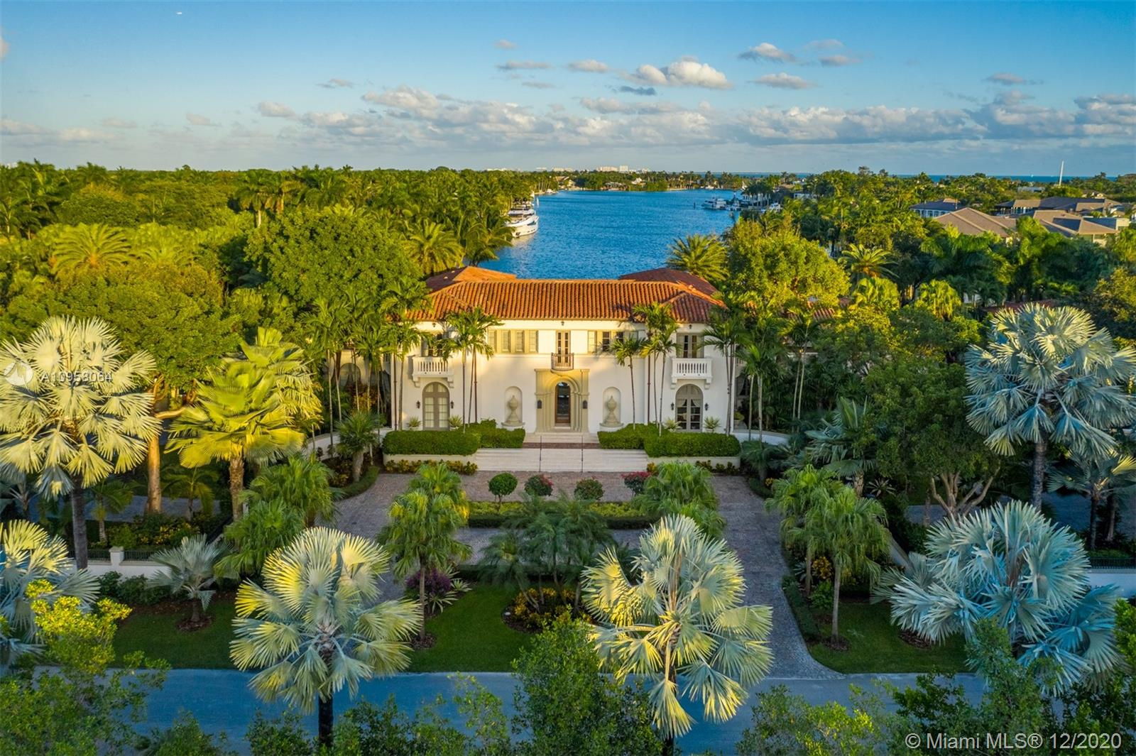 Waterfront neoclassical home located in Gables Estates. This magnificent property has 245 feet on the water with direct bay access, on 2.38 acres with over 674 species of palms and rare plantings.  Designed by Ralph Portuondo, the house features beautiful natural light and extraordinary finishes throughout. The estate also features a separate guest house and chapel.