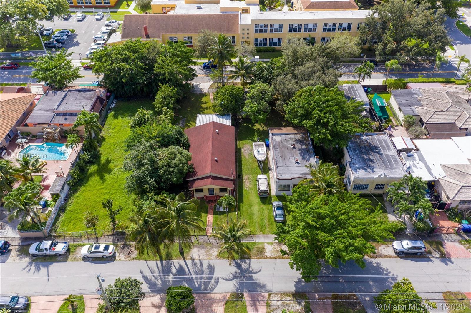 Location, Location, Location. Centrally located home nestled between Coconut Grove & the City of Coral Gables.