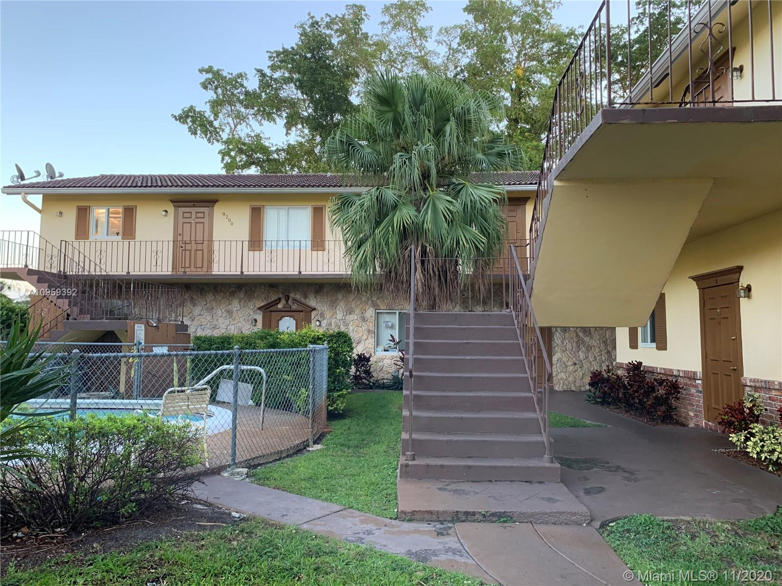 Located in a small, quiet complex, this unit offers lots of privacy, peace and tranquility. Located just minutes away from great schools, shopping centers, and mall. First floor unit entry on a 2 story building allows ease access in and out of your condo. Unit has been converted into a 3/1.  POOL on premises!!