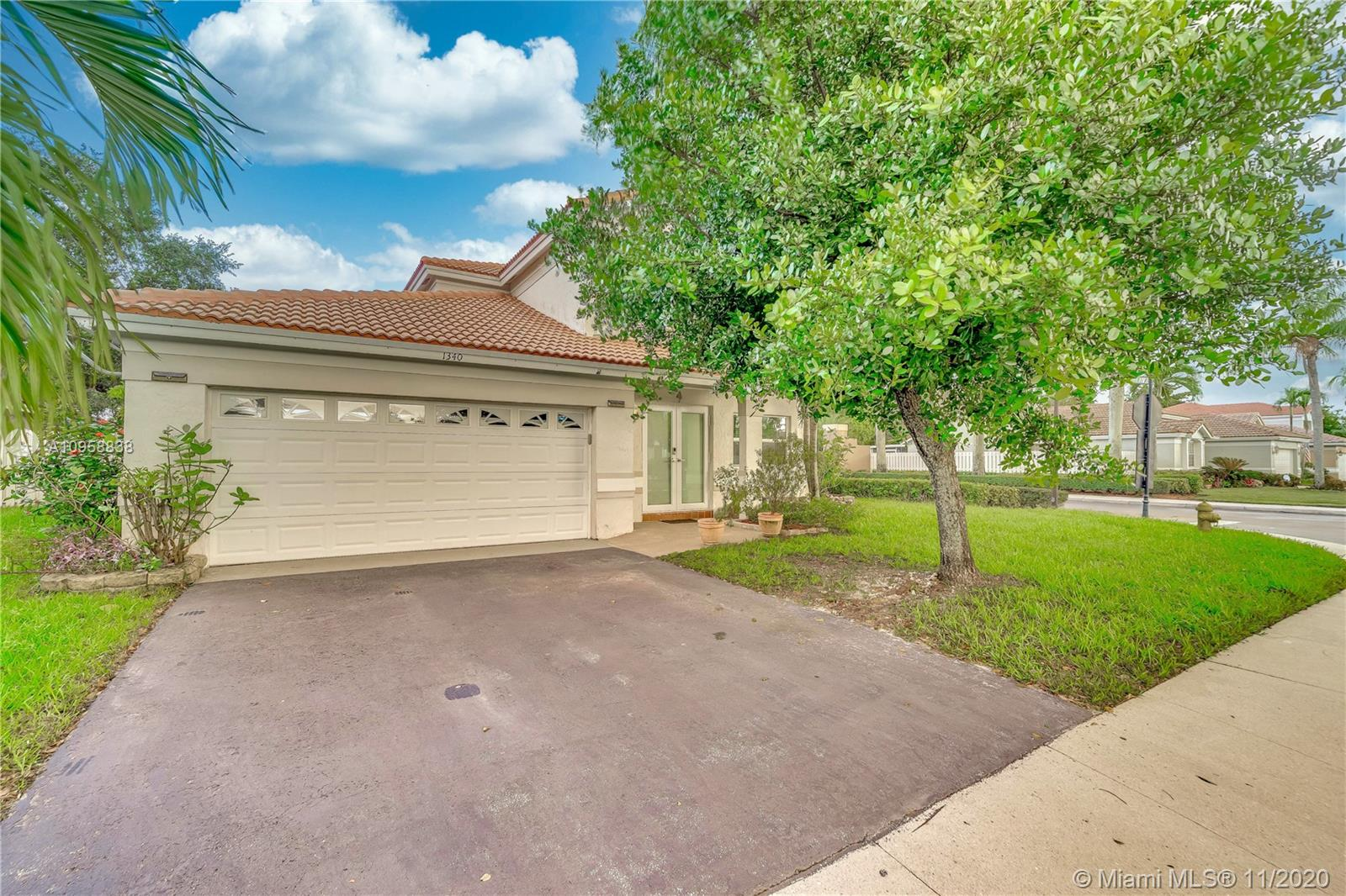 Fantastic 4 bedroom 2.5 bathroom home with almost 2100 sq ft under air in Residences of Sawgrass Mills!! Oversized 9800+ sq ft corner lot. Impact glass windows & doors throughout! Large living space w/volume ceiling and tile flooring on first floor. Open kitchen featuring white cabinetry, gas range w/eat in breakfast area. Master bedroom on first floor with walk in closet! Updated half bath. 3 bedrooms plus loft/storage area upstairs w/ renovated full bath w/double vanity. Tile roof replaced in 2006.AC unit 2018 w/brand new coil. Nest thermostat! Water heater 2018. Square D electrical panel. Security cameras! Great location to major highways  595, I75 & Sawgrass Expswy. Sawgrass Mills mall, airport and so much more. Walking distance to highly regarded Sawgrass Elementary and Flamingo Park.