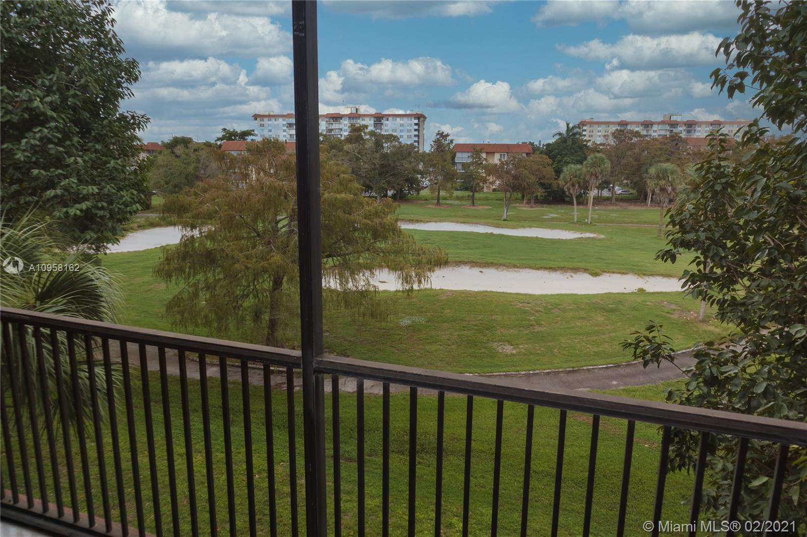 Enjoy resort-style living in this amazing golf view unit. 2 bedrooms & 2 baths unit in the desirable and guarded community of Inverwood. The unit features recently painted, tiled on living areas and laminated floor on bedrooms, easy to maintain, located right off the elevator, enjoy the gorgeous view of the golf course from your balcony. This unit is move-in ready and functional, washer/dryer inside the unit. It is the perfect starter home! Complex is minutes away from the Turnpike, and 15 minutes West of I 95 and west of Sawgrass Expressway. It is close to major grocery chains, gyms and major roads rock Island & Commercial. Amenities on-site include a heated pool, tennis courts, a clubhouse and gym, billiard room and extra shared storage room, directly on Inverrary Golf and Country Club.