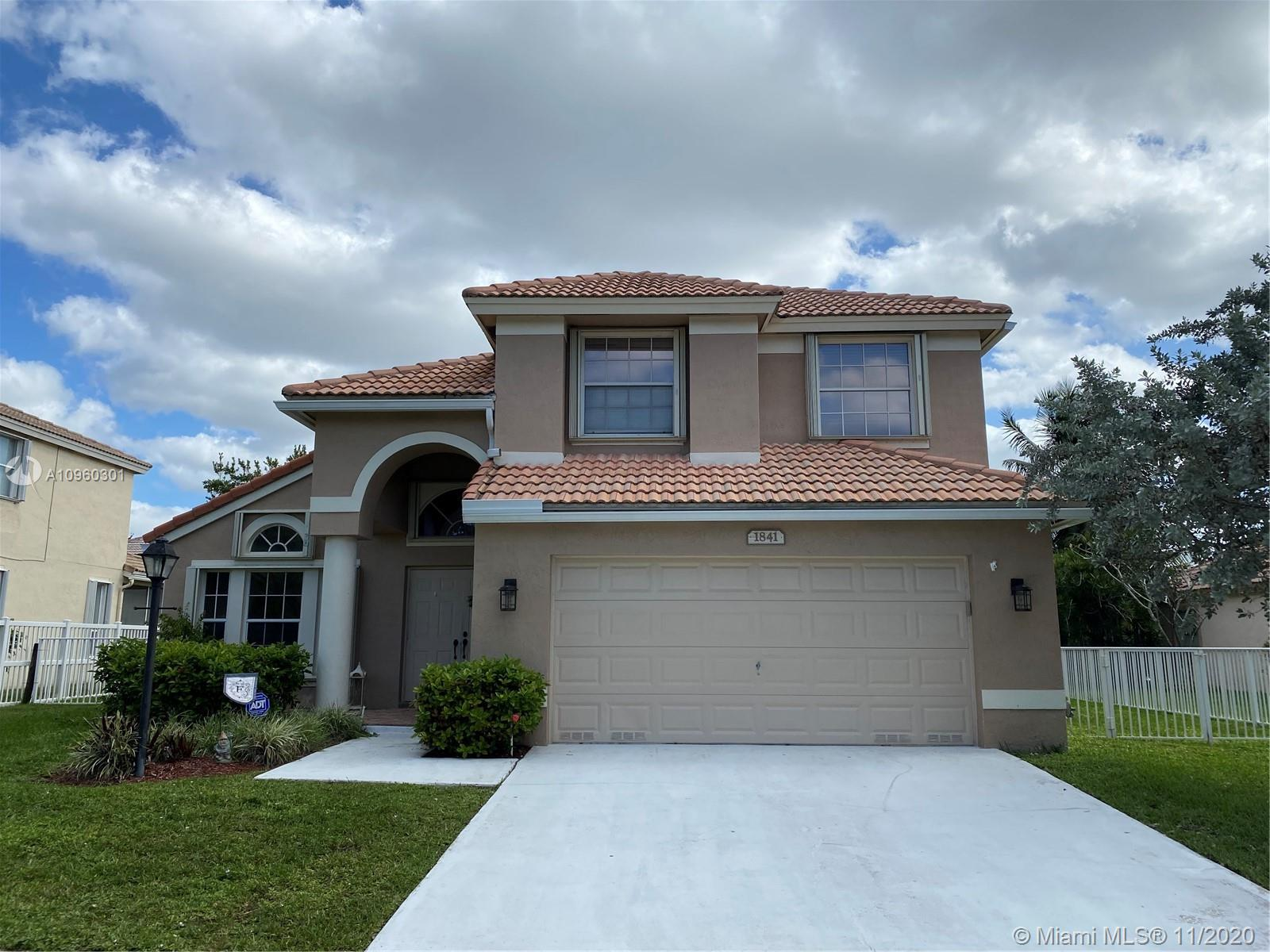 Amazing 4 bedroom, 2 1/2 bath, two story lakeview home in the heart of the Pembroke Fall community. Oversized LOT.  Very spacious Master bedroom located on main floor, brand new kitchen, Accordion shutters on all windows, and screened in lakeview patio.