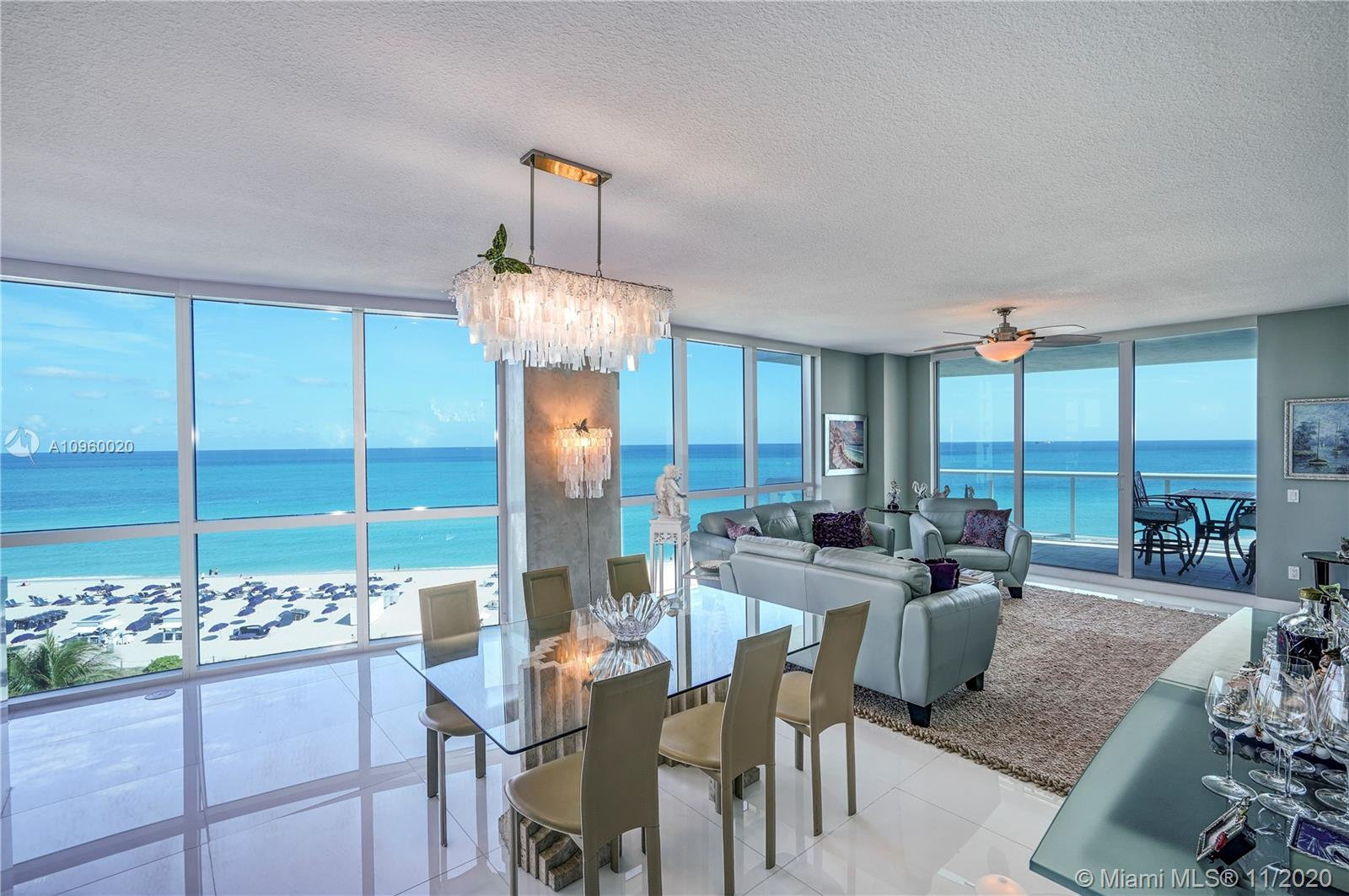"""Rarely Available Panoramic Ocean Facing """"06"""" line at Mosaic. Spanning the entire East side of the building with floor-to-ceiling windows allows for Natural Light and Stunning Views of the Ocean and of Miami Beach. Sunrise Balcony and Sunset Balcony, both are beautiful day and night. Master Bedroom sits on the Ocean on the Southeast side.  Mosaic is a luxury boutique building that offers private elevator, beach service, pool, gym, club room, wine room, humidor and movie theater. Located in the Faena District, Miami's hottest neighborhood. Steps from Soho House, Fontainebleau, Faena, and the Edition. Your backyard is the Ocean and Miami Beach's Boardwalk. Seller Financing Available."""