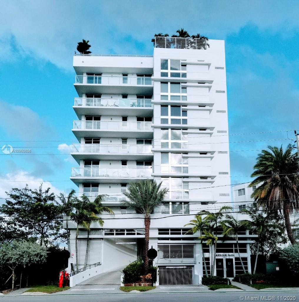 Harbour Park is a luxury boutique building within walking distance to beaches and world class Bal Harbour Shops. Stunning direct water views from this 4th floor true 3bd, 3 1/2ba light filled residence. 2 balconies with over 400 sq ft tiled finish. Numerous upgrades make this a turn key unit. This condo has a assigned boat dock with an additional $275.00 monthly HOA fee, the dock can fit a 11ft beam 35ft length boat. It has 4 assigned parking spaces of which 3 are on the upper level and 1 on the lower level and 2 storage lockers. Roof top heated pool is excellent for entertaining and sunsets!!
