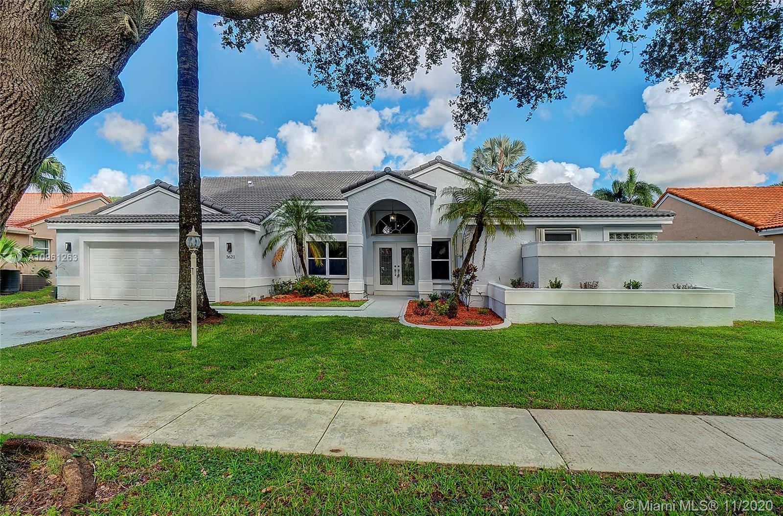 Completely remodeled one story, 4 bedroom, 2.5 bath, 2 car garage home in the prestigious neighborhood guard gated Embassy Lakes in Cooper City. Serviced by all top rated Cooper City schools. Community amenities include 3 guard gated entrances, heated olympic size pool, 6 lighted tennis courts, fitness center, basketball and volleyball and handball courts, clubhouse and play grounds for the kids.