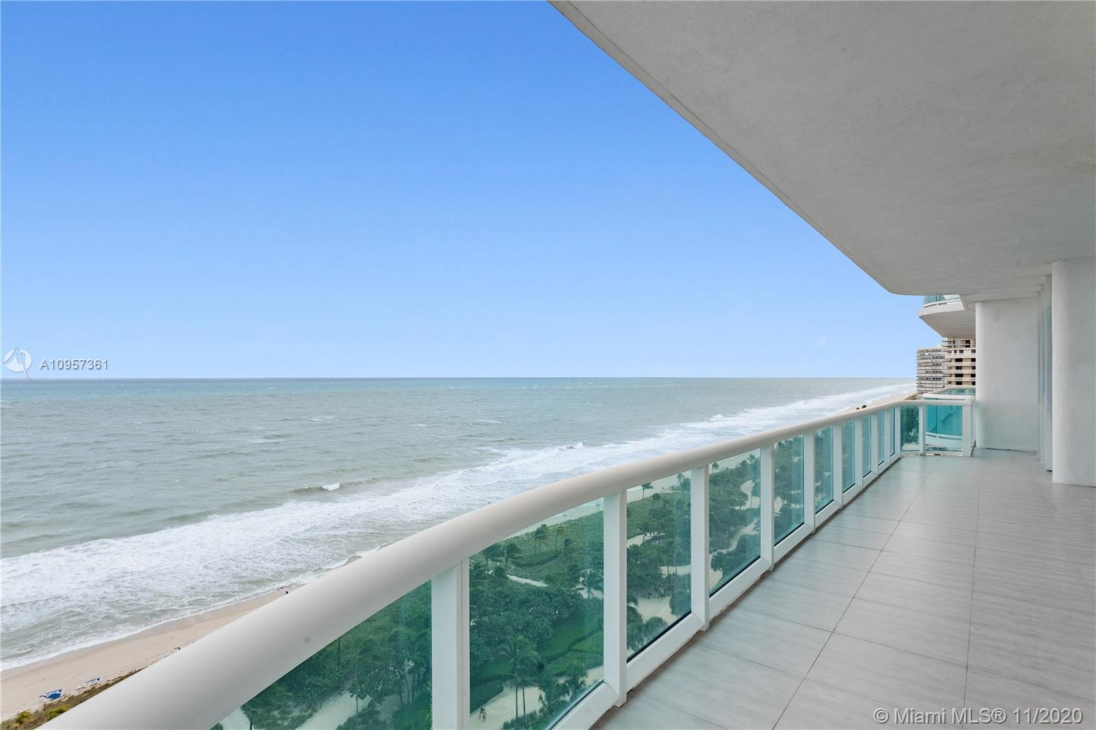 Spectacular oceanfront corner unit! Modern and totally redone w/ultimate top of the line finishes. Furnished and decorated by Steven G. This unit boasts direct ocean views form Wrap around balcony & includes a housekeeper's qrtrs & bath, white glass tile floors, italian gourmet kitchen w/Miele Appliances, His & Her Master Bths, Custom sound system & lighting, Electric Hurricane shutters. Ready to move in. Amenities include a heated pool with cabanas and beach access, tennis courts, playground and playroom, valet and concierge services, full spa, 24-hour security, restaurant.The building is just one block from the famous Bal Harbour shops and conveniently close to numerous other stores, fine dining, cultural activities, the Indian Creek Golf Course, marinas and international airports.