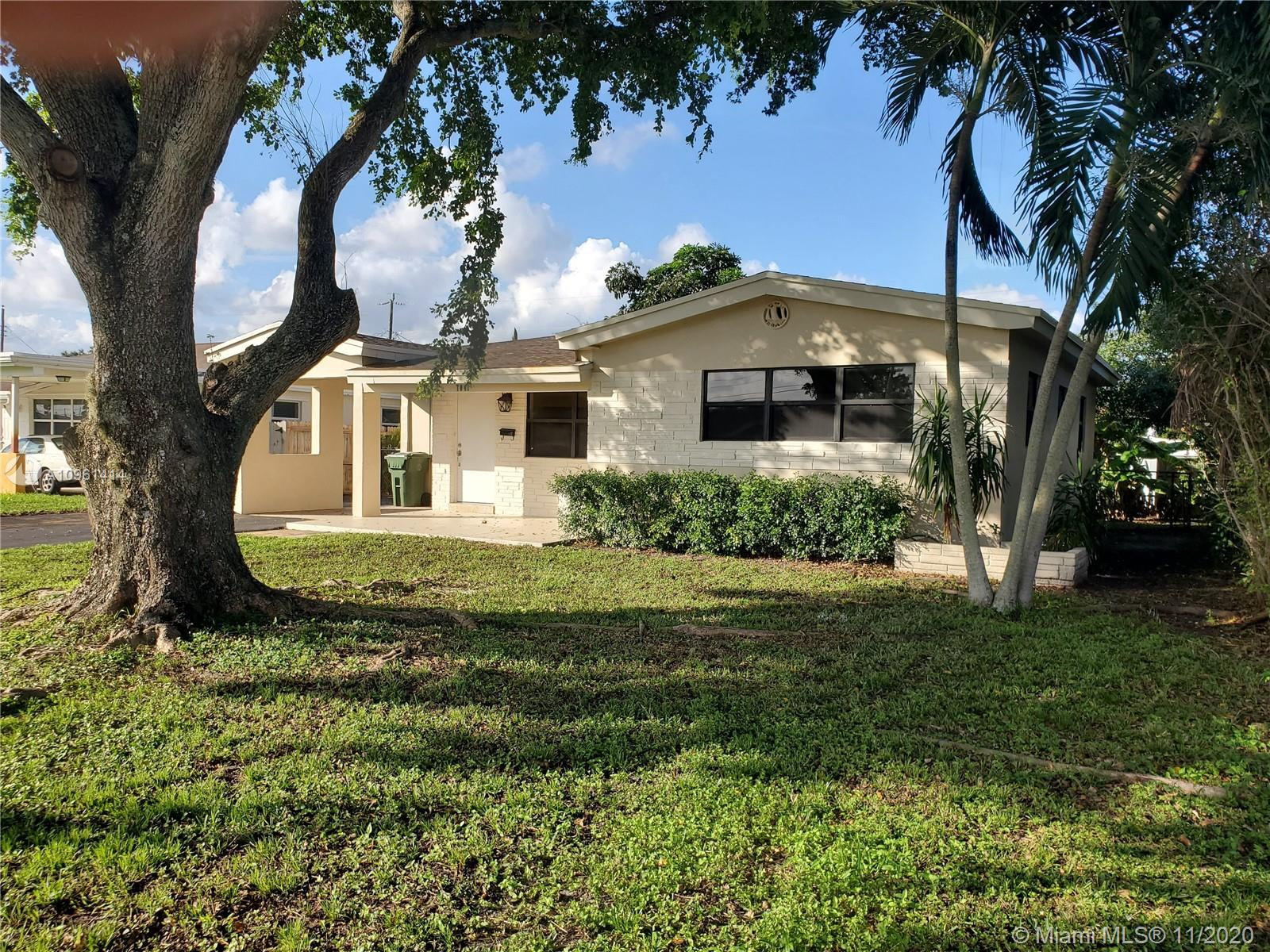 VERY NICE 2 BEDROOM 2 BATH STARTER HOME WITH CARPORT IN EAST PEMBROKE PINES! LOCATED ON A QUIET STREET WITH BRAND NEW ROOF, THIS HOUSE IS READY TO MOVE IN. LIVING ROOM AND FAMILY ROOM WITH SEPERATE DINING ROOM AND UTILITY FOR WASHER AND DRYER PLUS ADDITIONAL STORAGE. RELAX IN YOUR SCREENED PORCH WITH PLENTY OF ROOM FOR A POOL. PERFECTLY SITUATED CLOSE TO THE TURNPIKE AND I-95 FOR EASY COMMUTE NORTH OR SOUTH. CLOSE TO PARKS, SCHOOLS/COLLEGES, SHOPPING CENTERS AND ENTERTAINMENT (SEMINOLE HARD ROCK). NO HOA OR FLOOD INSURANCE REQUIRED...