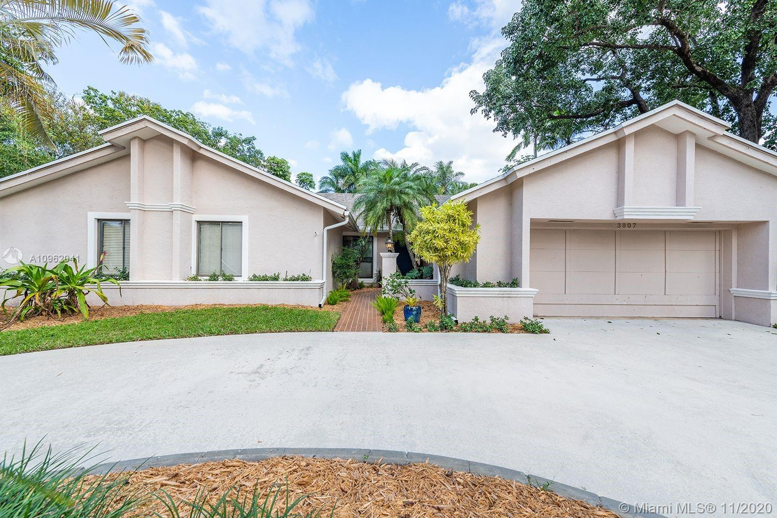 Beautiful home in sought after neighborhood of Rock Creek! In family oriented Cooper City with all A+ schools!! 4 bedrooms, 3 baths, plus office! 15,000 sq ft corner lot! Low HOA only $165 a quarter! Roof only 4 years old!! Nicely maintained granite countertops, kitchen has mosaic tile backsplash, and separate utility room. Huge yard with brand NEW fence and pool with a cabana bathroom! Home features vaulted ceilings with laminate and tile floors! Stainless steel appliances and 2 a/c units! Come and see, WON'T LAST!