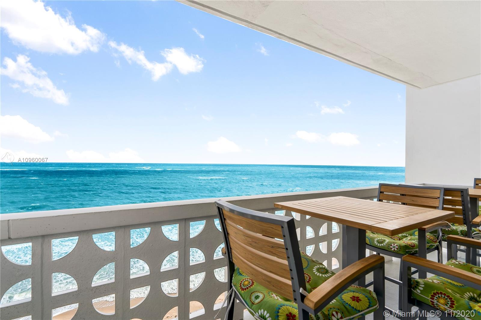 Welcome to this direct oceanfront corner unit located in Ocean Summit on Fort Lauderdale's Galt Mile. This residence captures the essence of beachfront living. The floor height is just perfect, welcoming you to enjoy the ocean breeze and sounds of crashing waves, while still allowing you to enjoy the endless views of the Atlantic Ocean seemingly at your feet. The residence has been fully remodeled and features impact windows, in unit washer & dryer and fully updated bathrooms. The kitchen boasts granite countertops and stainless steel appliances. The building has 24 hr security, fitness center, heated pool and plenty parking spaces for guests. Ocean Summit is located walking distance to restaurants, shops, grocery store and much more!