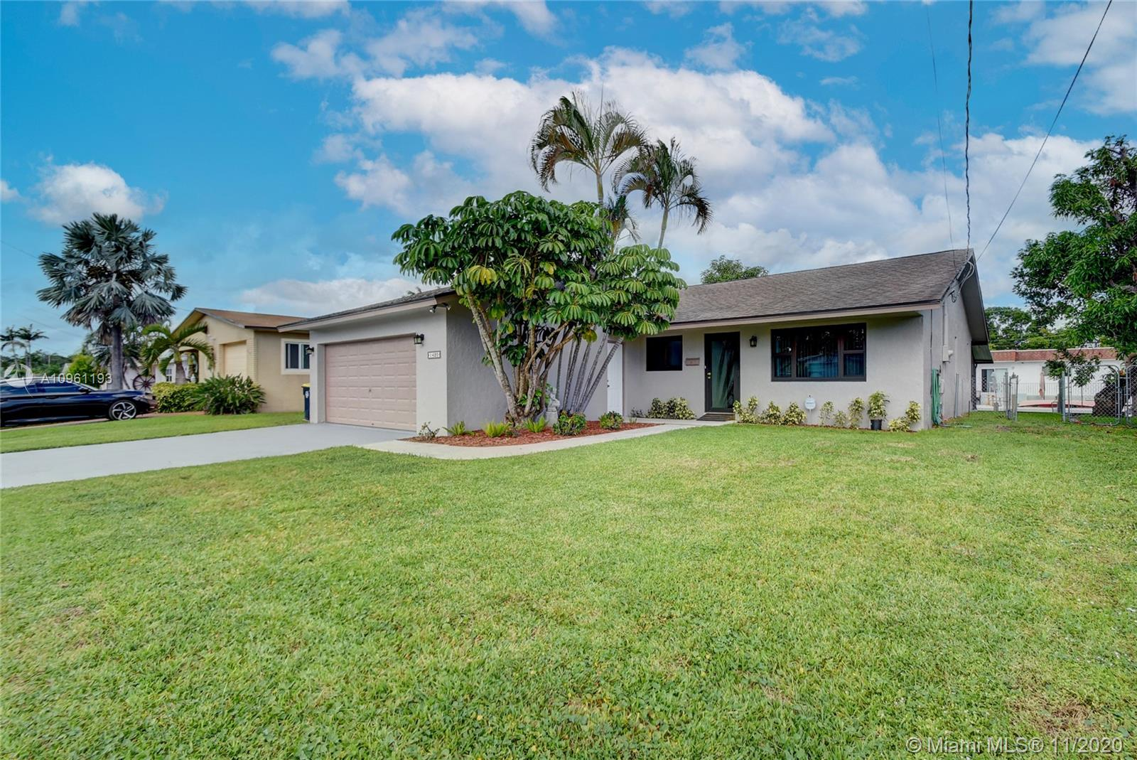 Sought after subdivision MELALEUCA GARDENS! Perfect home for boaters who want easy ocean access. You have your own boat dock and lift in your backyard! Just off the Dania Cutoff Canal, close to the Intracoastal and Port Everglades. This 3/2 has a great layout with brand new hurricane impact windows throughout and hurricane impact doors. The Interior and exterior of the home have just been repainted from top to bottom. New drain field and septic tank. Immaculate 2 car garage which is unusual for this community. Newly painted patio with new screening as well. Newer air conditioner. Excellent shopping and dining at nearby Dania Pointe, Las Olas, The Hard Rock, Hollywood. Did I mention no HOA! Must see! This home WILL NOT last!!