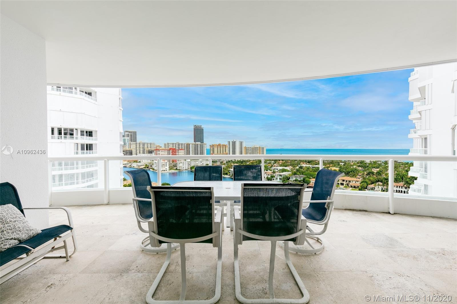 Live in coveted Atlantic III at The Point. This spacious 2,440 SF residence welcomes you w/ direct ocean & intracoastal views. Enter through your own private elevator entry directly to your residence, all rooms have stunning views & balcony access. This 3 bedroom, 2 full & 1 half bath residence features an expansive terrace showing off the stunning vistas w/ access from the master suite, kitchen & living room. The additional terrace has views of the marina. This unit features spacious walk-in closets throughout, an eat-in kitchen & separate utility room w/ sink. Enjoy resort-like living in this full service building that offers a spectacular state of the art clubhouse, 3 pools, restaurant, marina, fitness center, sauna, theater, BBQ area, tennis courts, towel service, 24hr security & valet