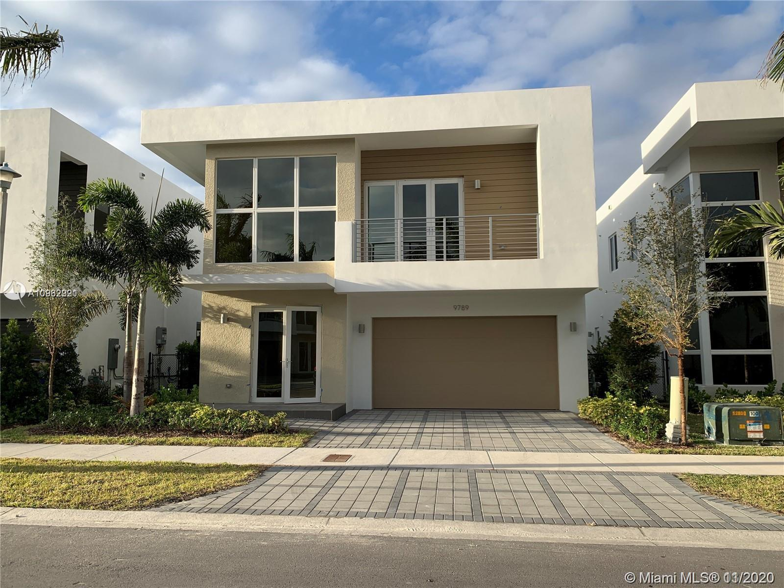 This spacious 4 bed 4 bath is located in the gated community of Modern Doral 45. This house has its own private pool. Not only the house is generous in space, the club house is too. There is a health club within the club house, wifi-lounge, as well as a beautiful swimming pool. Imagine living in this dream house..,!!