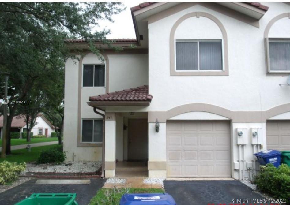 Showings will begin on December 4, 2020. Clean, freshly painted. Beautiful corner unit. 3 Bedroom, 2 1/2 Bath, 2 Story Townhome in The Mews at Maplewood! LOW Monthly HOA Dues! Located near the Coral Springs Mall! Close to Shops & Restaurants; Whole Foods, The Home Depot, and Sawgrass Expressway.  1 Car Garage and additional parking area.