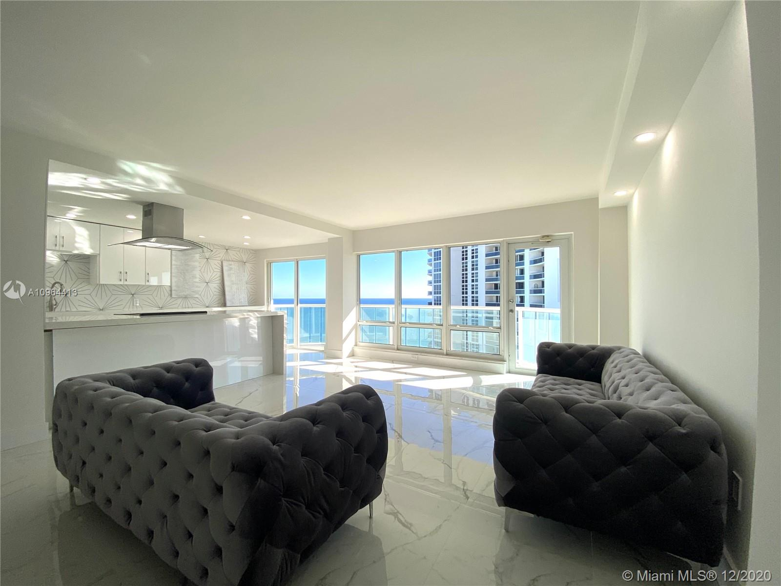 PENT HOUSE - AMAZING OPEN OCEAN AND CITY VIEW - SOUTH VIEW - 2 cover parking space. Brand New unit !!! fully remodel !!! Kitchen Aid appliance s, porcelain floor, new bathrooms , new closets, new kitchen cabinets, new new new !!!!! split bedrooms, each one in opposite site of living room !! LED lights, Bluetooth in bathrooms !! Must SEE !!!!