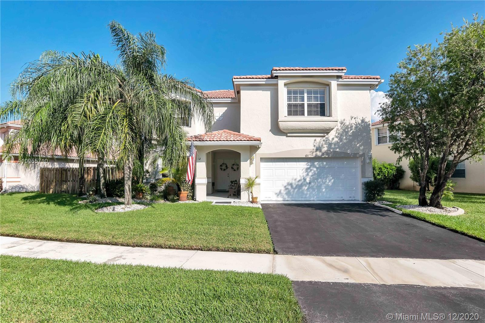 Beautiful 4/2.5 Two Story Home in The Gables at Bonaventure. Home Features an open, split Floor Plan. Knockdown Ceilings throughout the house. Painted Neutral Colors in social areas. Huge Master Bedroom w/Walk-in Closets, Master Bath separate Tub/Shower. Double Door Entrance. LED Lights. Gas Connection. Attic with plywood for storage. Good size Family Room and separate dining area. Tile Italian Rectificated 48x24. Enjoy and relax outside in the spacious covered patio, perfect for entertaining with Lakeview. Dark brown Motorized Pergola. Accordion Shutters. Enjoy the Bonaventure Town Center Club amenities: Gym, Pool, Tennis Courts, Billiards, Bowling, Theater, Game room & Skate Rink. Excellent neighborhood w/the best schools. Near Shopping Plazas, Restaurants & Highways. A must see home!