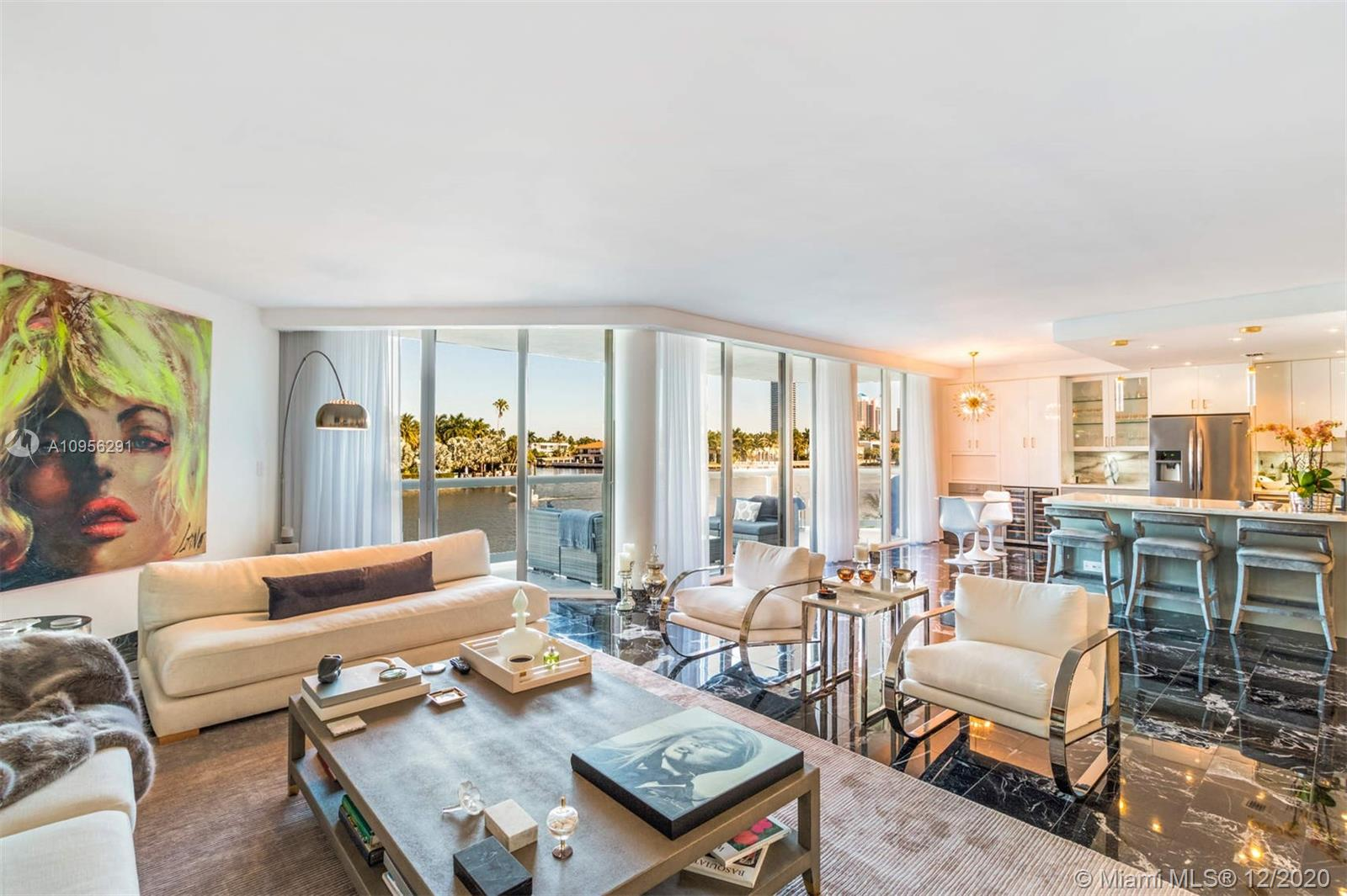 Completely remodeled 3 bed / 3 bath townhome located at The Terraces at Turnberry with endless views down the intracoastal waterway. Enjoy the privacy of a townhome with all of the community amenities including pool area with service, 2 fitness centers with sauna, tennis / racquetball courts and a cafe. Seller owns a Private Pool Cabana that can be purchased with the sale. The community is located minutes from Aventura Mall, Turnberry Resort, Gulfstream Park and the beaches.