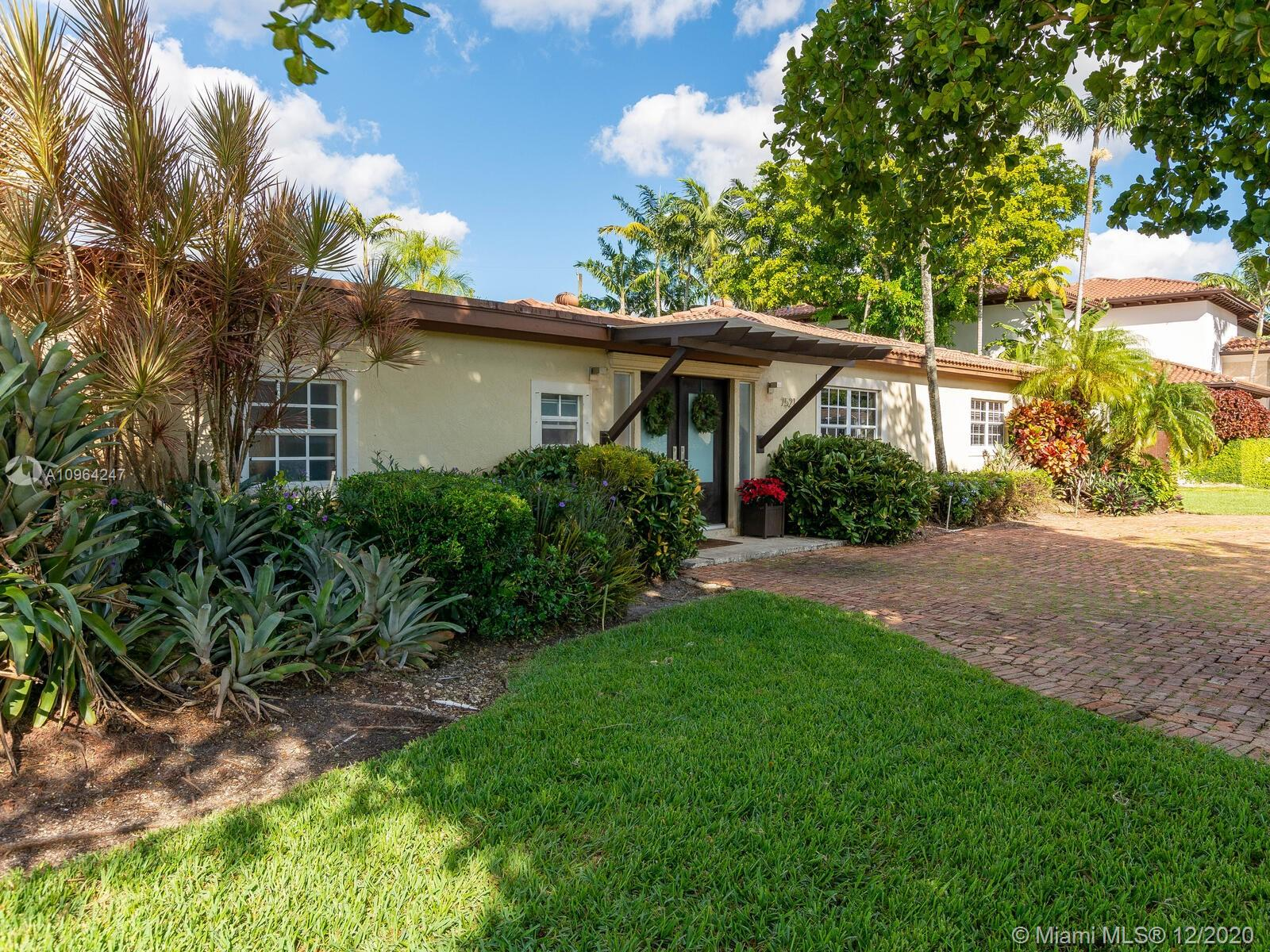 Make this Tropical Oasis your sanctuary! Entertain comfortably in the beautifully landscaped backyard with a custom made pool and drinking margaritas under the Tiki Bar. This perfect family 5 bedroom 3 baths home is completely renovated  and nestled in a quiet street of Glenvar Heights. Excellent Location near UM, International Airport, Sunset Mall and best school district of Miami.  Among the great features of this property are: Impact windows and doors, Two-zone A/C for maximum cooling, Two separate Chicago-Brick driveway areas for plenty of parking, gourmet kitchen, well sprinkler system and much more.