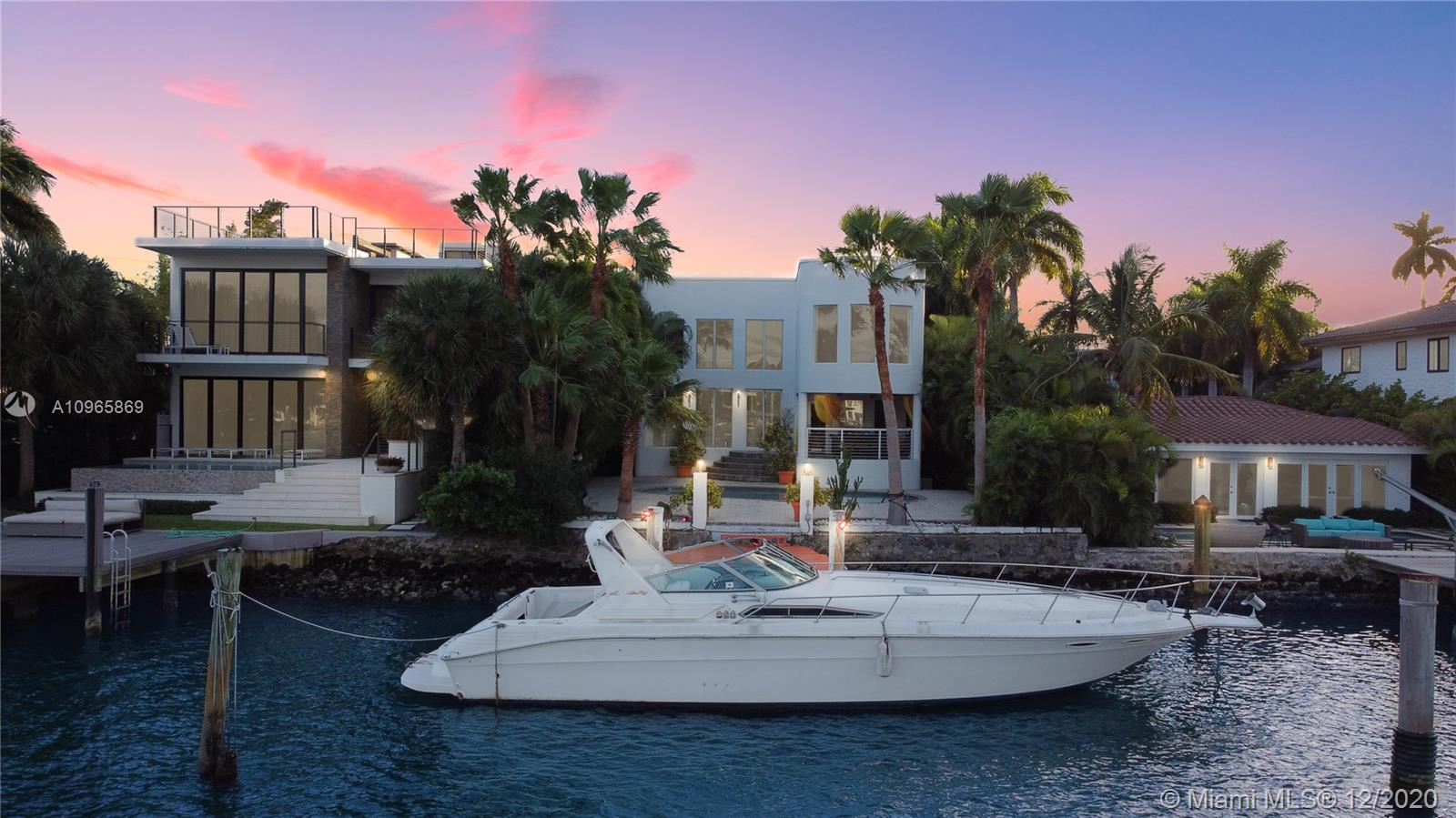 Welcome to the prestigious Palm Island Waterfront Paradise! This beautiful home was designed and built by the owner himself in 2002 to fit his every need imaginable. The home was customized and features a Chef's Kitchen, 20 foot ceilings, oversized grandeur impact windows showcasing the water views. 50 Ft Water Frontage for the yacht, Over Sized Pool, Outdoor covered deck, 4 Bedrooms 4.5 Bathrooms, Over 4,100 Sqft Living Space, Open Loft Theater Space, 1 Car Garage, 7,000 Sqft Lot able to park 4 Cars, Privately Gated, Extravagant Lighting System indoor and outdoor. Easy access to Miami Downtown nightlife and South Beach clubs, restaurants and everyday beach life!
