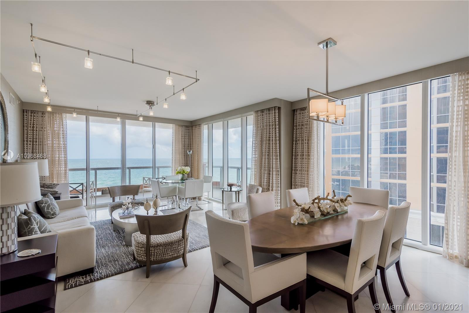 Spectacular Oceanfront corner residence in Acqualina designed by famous interior designer Fanny Haim!  Turnkey unit, ready for you and your family to enjoy what Acqualina has to offer and t's five star, five diamond services and lifestyle.
