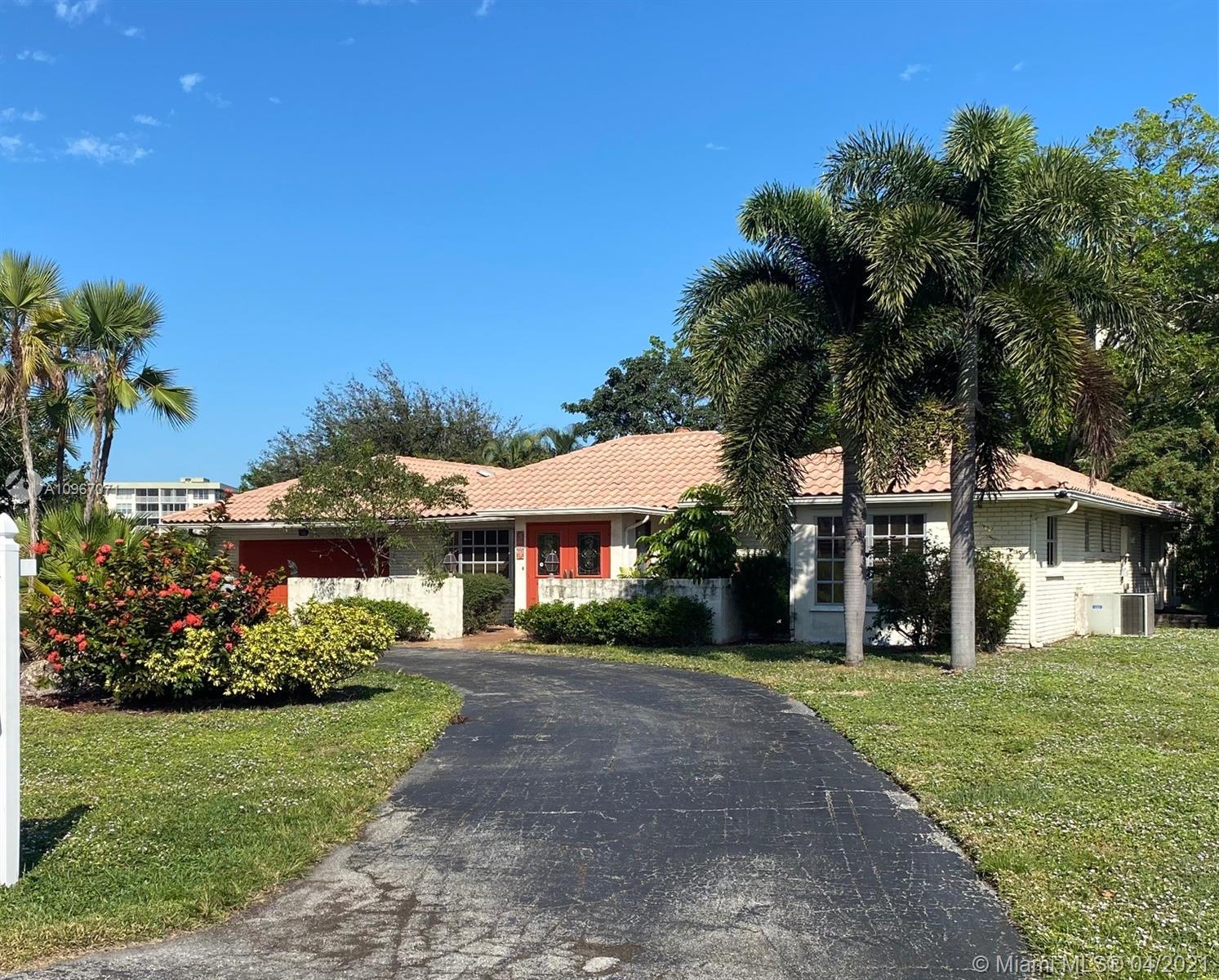 Rare opportunity to own One of Only 26 Single Family waterfront Homes on Estates Drive. Estates Drive is one of Palm-Aire's best kept secrets. Very Serene location surrounded by Beautiful waterfront Homes. Lot size is over 15000 sq. ft. . Walk to the Golf course or to the Isles Casino. Very accessible to I-95 and the Turnpike for easy commuting. This Home is ready for your design and remodel. House is offered AS-IS. OWNER IS pretty FIRM ON PRICE.