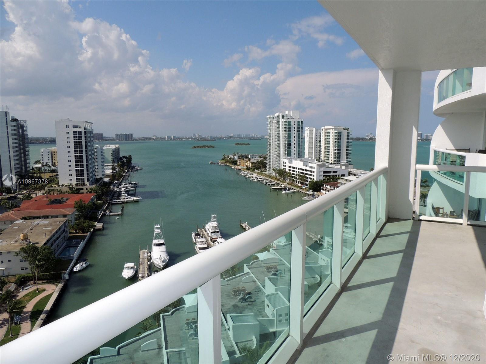 MIAMI LIVING AT IT'S FINEST!! INCREDIBLY SPACIOUS 2 BED /2 BATH UNIT TUCKED AWAY IN BEAUTIFUL NORTH BAY VILLAGE & ONLY MINUTES TO THE BEACH & ALL MAJOR HIGHWAYS!! THIS SPECTACULAR LOWER PENTHOUSE UNIT BOASTS 1,223 SQFT WITH ALL TILE FLOORS, SPLIT FLOORPLAN WITH AMAZING NATURAL LIGHT & LARGE WALK-IN CLOSETS!! UNIT IS VERY CLEAN & FRESHLY PAINTED; KITCHEN HAS GRANITE COUNTERS, STAINLESS STEEL APPLIANCES & PLENTY OF CABINET SPACE + WASHER/DRYER IN THE UNIT! HUGE, NORTH/WEST FACING BALCONY WITH SWEEPING WIDE BAY VIEWS MAKES FOR AMAZING OUTDOOR LIVING!! PET FRIENDLY BUILDING UP TO 25LBS + BASIC CABLE INCLUDED + 1 ASSIGNED/COVERED PARKING SPACE!! WILL NOT LAST, EASY TO SHOW!!