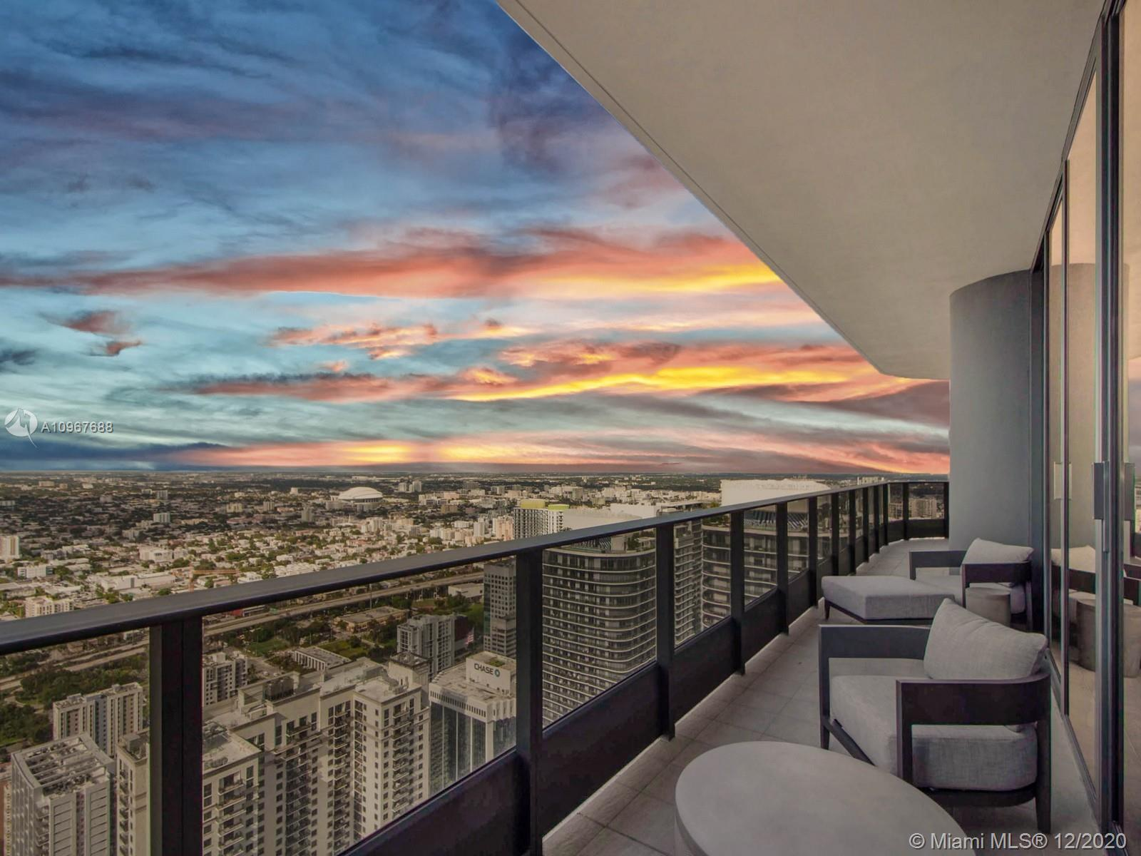 Move in ready residence at Brickell Flatiron offering 3 beds/3.5 baths with 1,800 SF +2  assigned parking spaces! Enjoy the expansive wrap around balconies with with sprawling skyline city views. Meticulously designed to perfection this unit is sold furnished and move in ready. Brickell Flatiron's amenities include the 64th floor rooftop pool with a spa, and 6,300-square-foot gym with a Pilates, yoga, aerobics studio, and a juice bar. The building also includes a lap pool and children's pool on the 18th floor, a movie theater, billiards and cigar room, wine cellar, and electric car charging stations. In the heart of Brickell this gorgeous building is the ultimate address in town. Owner motivated and Easy to show!