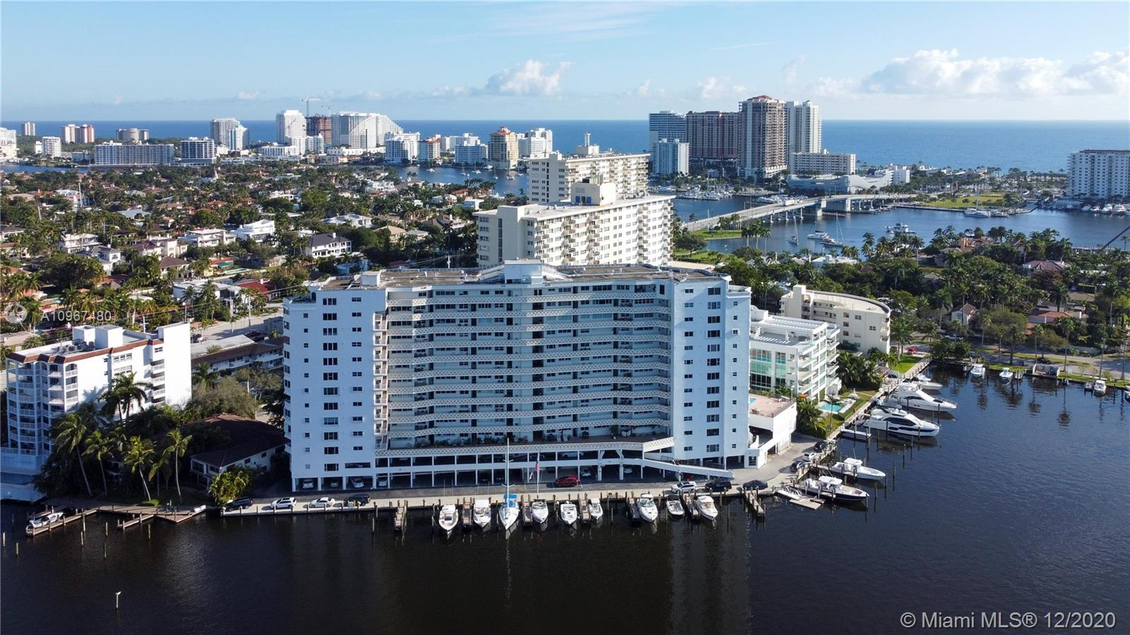 Welcome to Paradise! Gorgeous waterfront condo located in the heart of Las Olas. Boaters welcome with docks available that can accommodate up to a 60' boat with no fixed bridges. Very short boat ride to the Ft Lauderdale inlet. This unit has been professionally upgraded with no detail or expense spared! Enjoy marble floors throughout, a custom wood kitchen with quartz countertops, top of the line sub-zero appliances, impact windows and doors, motorized blinds, new bathrooms, and much more. Enjoy tranquil Ocean and Bay views from every opening. The four seasons condominium is very desirable with amenities galore, heated pool, 24-hour security, parking, BBQ paddle board launch area and much more. Once in a lifetime investment opportunity and will not last.
