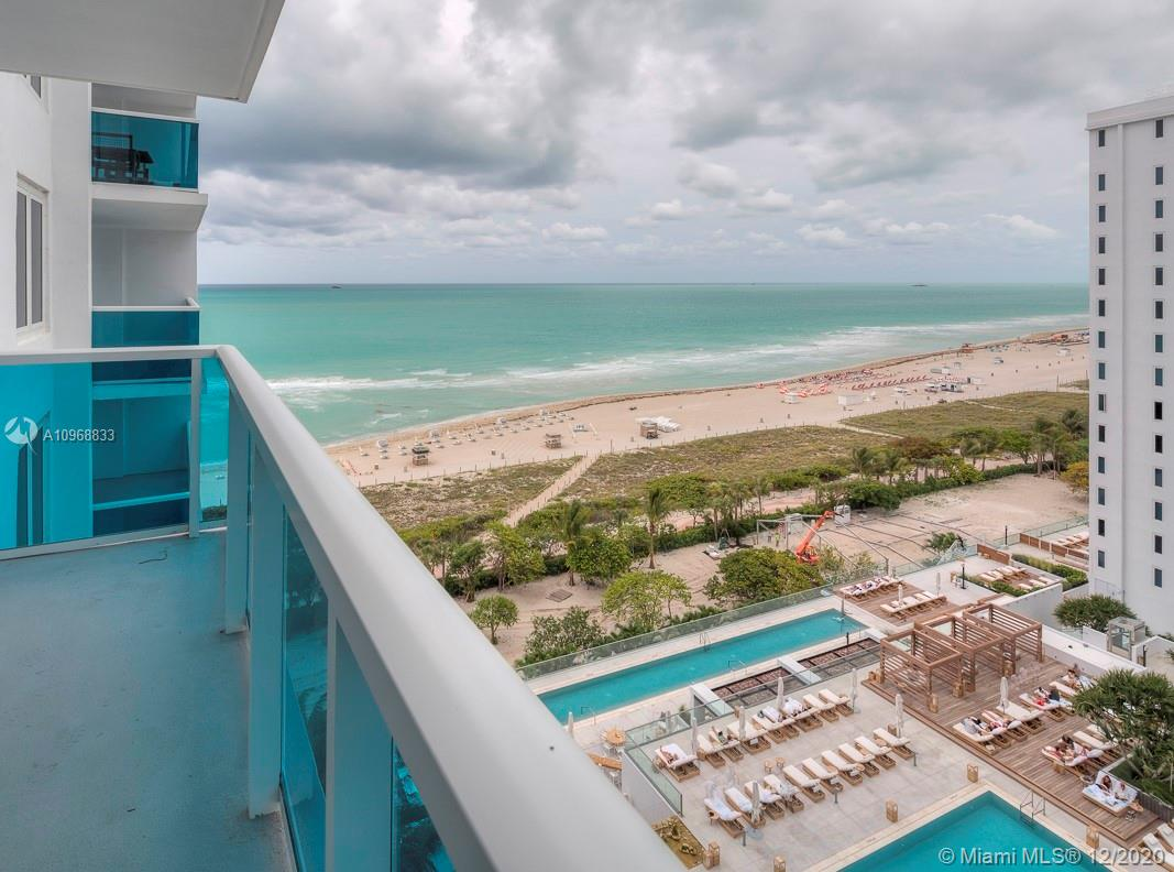 Fully furnished 1 bed / 1.5 bath with 1 Hotel & Homes furniture package. Facing south and situated close to the ocean, this 14 line enjoys stunning southeast views over the pool deck and coast line. Great amenities including 4 pools, valet, private owner's lobby separate from hotel entrance, and the best restaurants in South Beach