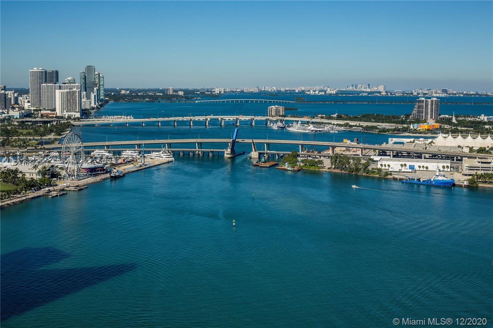 Stunning 3 bedrooms / 3.5 bathrooms unit at Three Tequesta Point! Enjoy unobstructed views of the bay, skyline, Miami River and much more! Balconies are spread throughout the unit for you to enjoy each and every view that this unit offers. Master bedroom is very large with a huge walk in closet and includes a spacious bathroom. The other two bedrooms are located on the other side of the unit giving the master bedroom complete privacy. Three Tequesta Point offers incredible amenities including a tennis court (with lights for nighttime play), massive gym and pool, ample bbq area and much more. Unit also features 2 parking spaces right next to each other and close to the elevator.